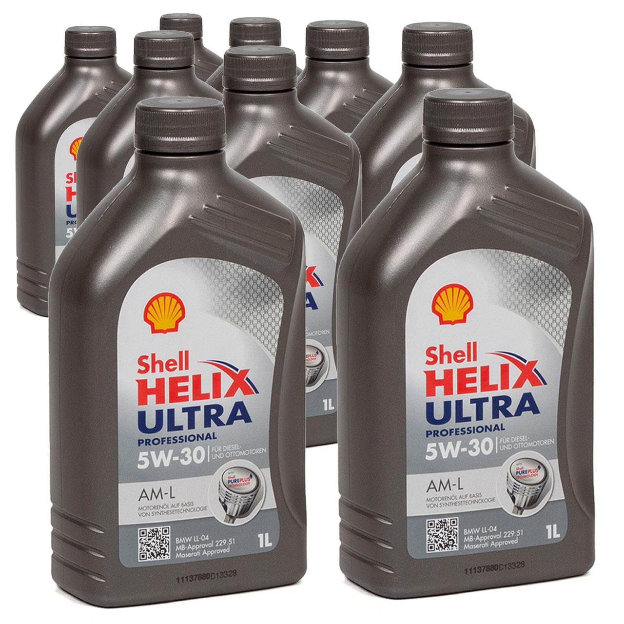 SHELL Motoröl Öl HELIX ULTRA Professional AM-L 5W30 für BMW LL-04 - 9L 9 Liter