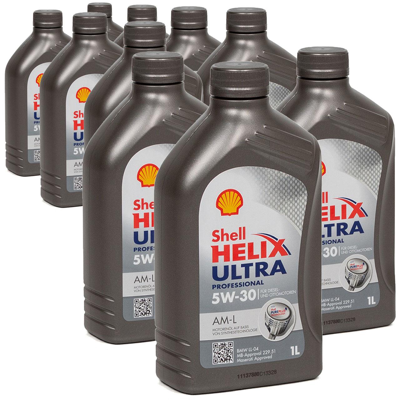 SHELL Motoröl Öl HELIX ULTRA Professional AM-L 5W30 für BMW LL-04 - 10L 10 Liter