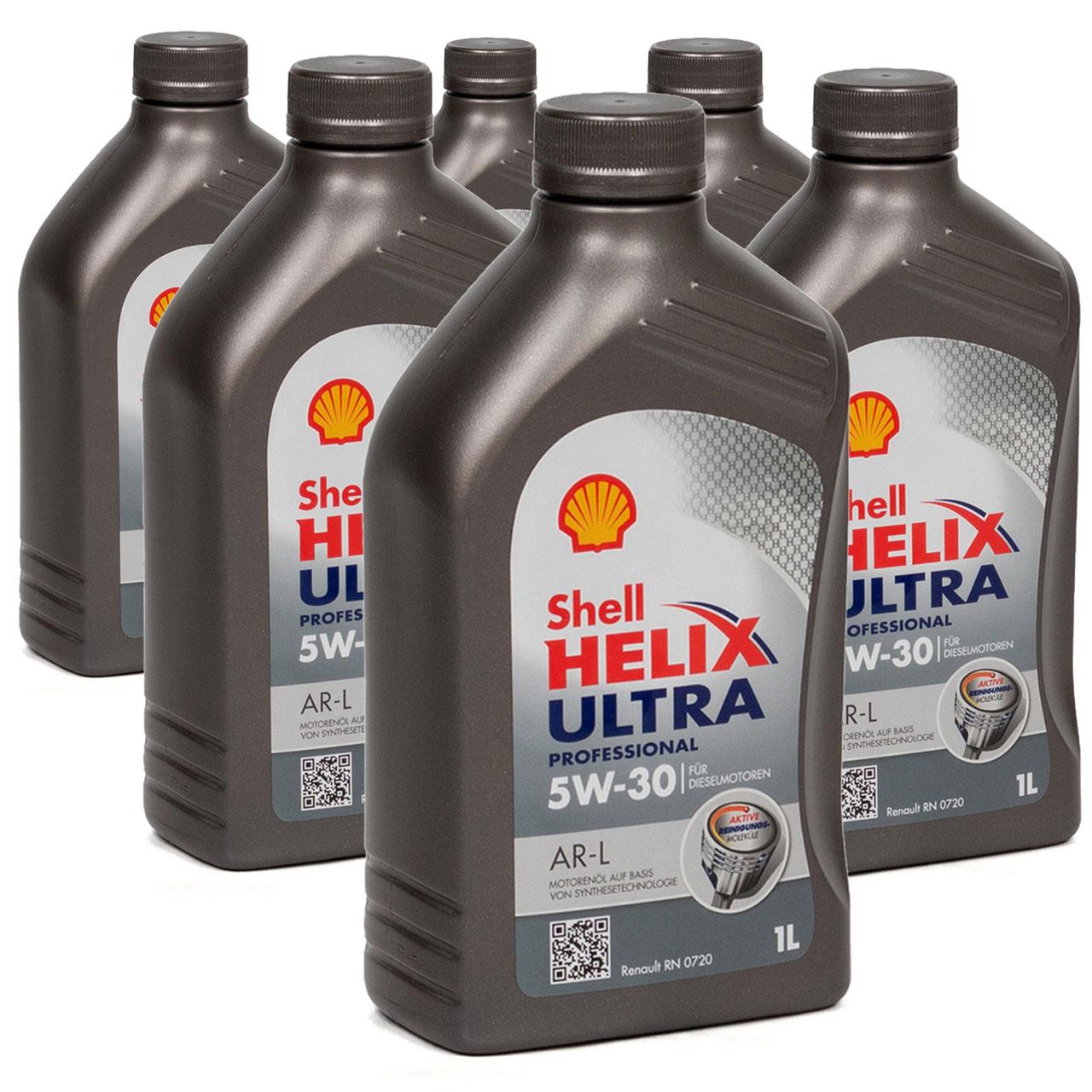 SHELL Motoröl Öl HELIX ULTRA Professional AR-L 5W30 Renault RN0720 - 6L 6 Liter