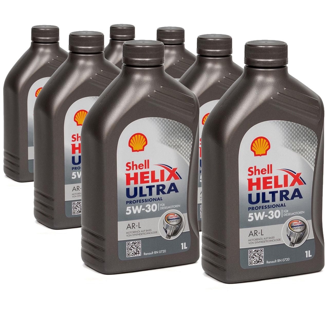 SHELL Motoröl Öl HELIX ULTRA Professional AR-L 5W30 Renault RN0720 - 7L 7 Liter