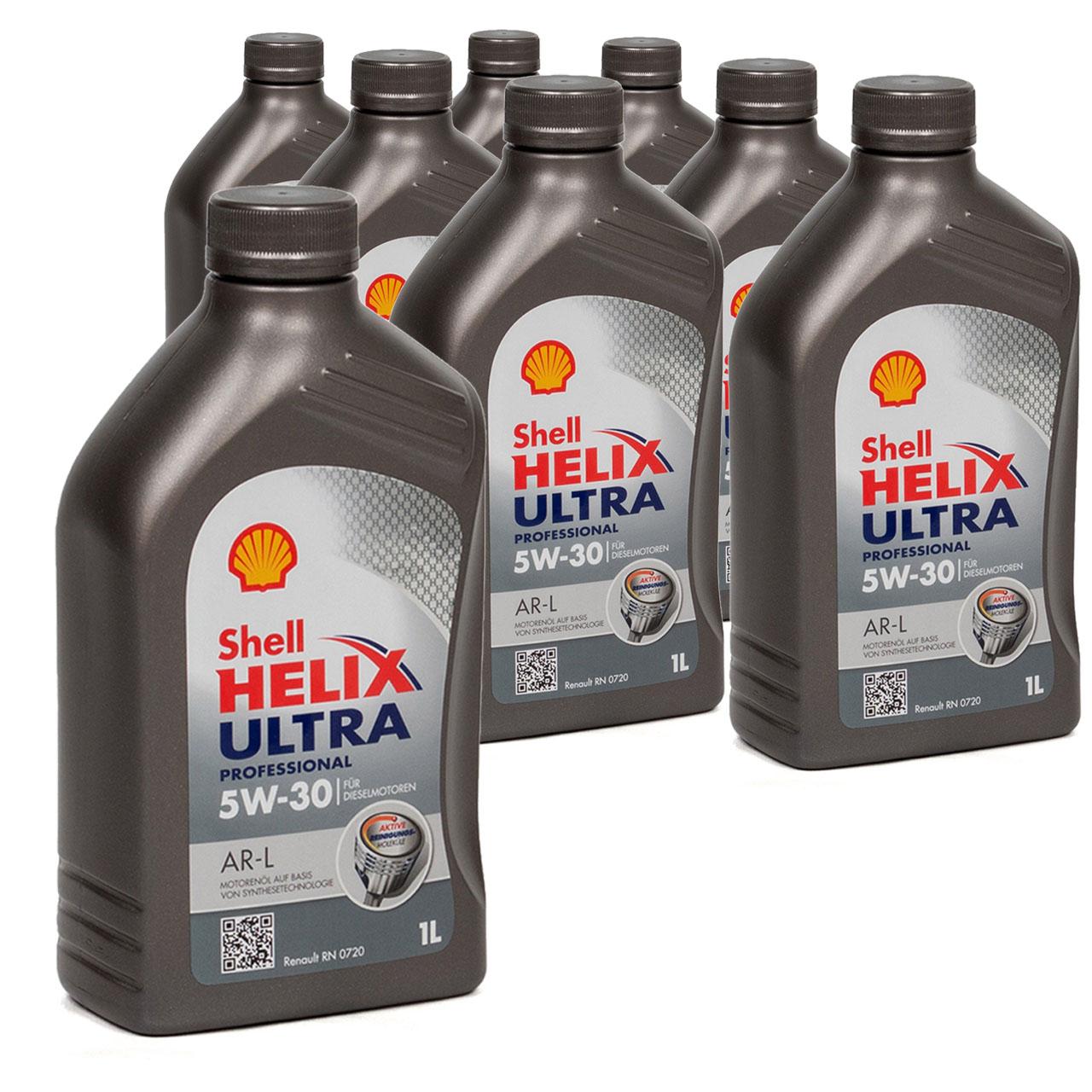 SHELL Motoröl Öl HELIX ULTRA Professional AR-L 5W30 Renault RN0720 - 8L 8 Liter