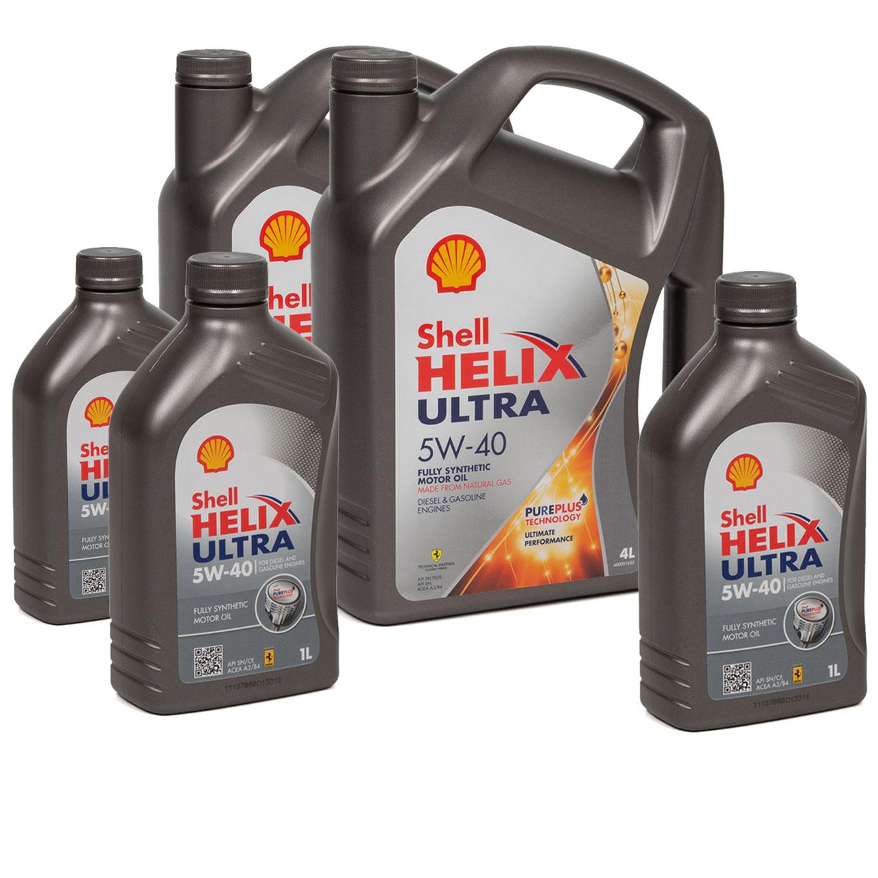SHELL Motoröl Öl HELIX ULTRA 5W-40 5W40 MB 226/229.5 VW 502/505.00 - 11 Liter