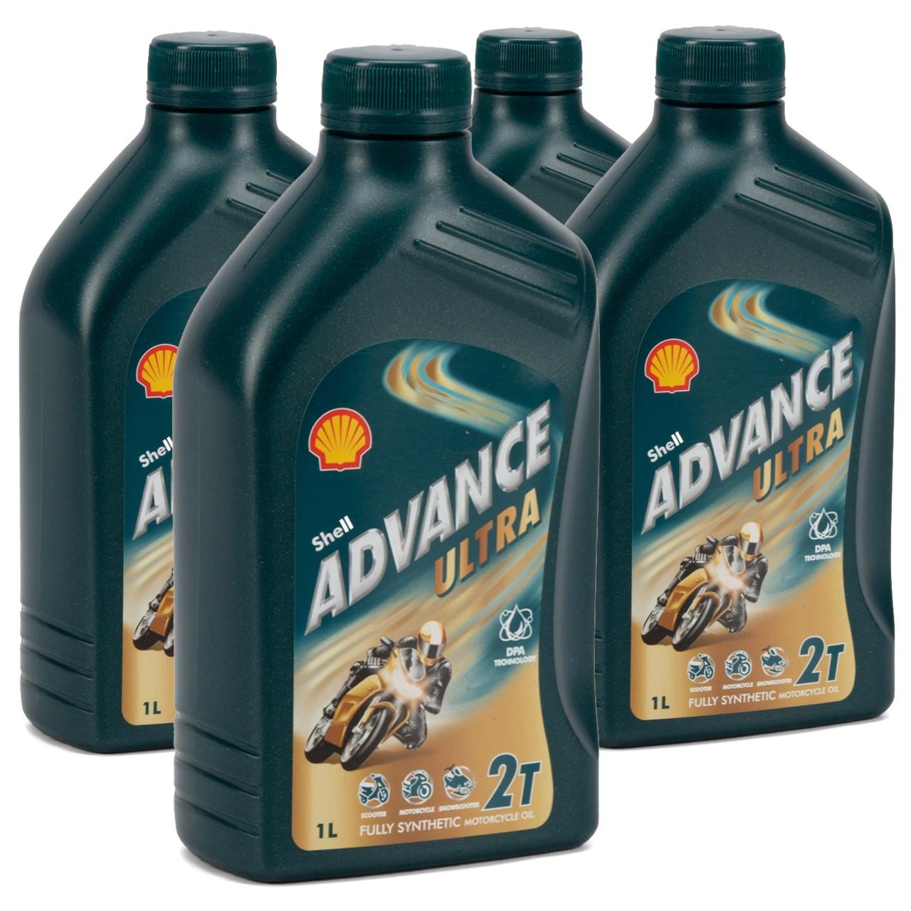 SHELL Motoröl Öl ADVANCE ULTRA 2T 2-TAKT JASO FD API TC ISO EGD - 4L 4 Liter