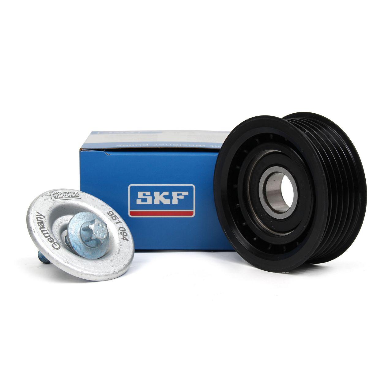 SKF Umlenkrolle Keilrippenriemen VKM38527 für MERCEDES W204 C63 AMG W212 E63 AMG