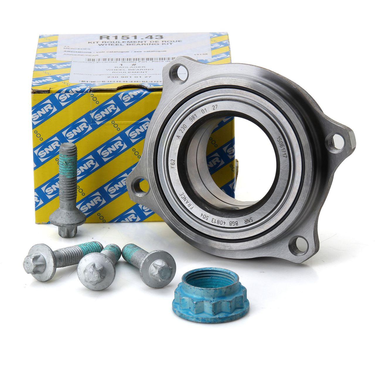 SNR Radnabe Radlager Reparatursatz für Mercedes W204 C207 R230 R172 C197 hinten