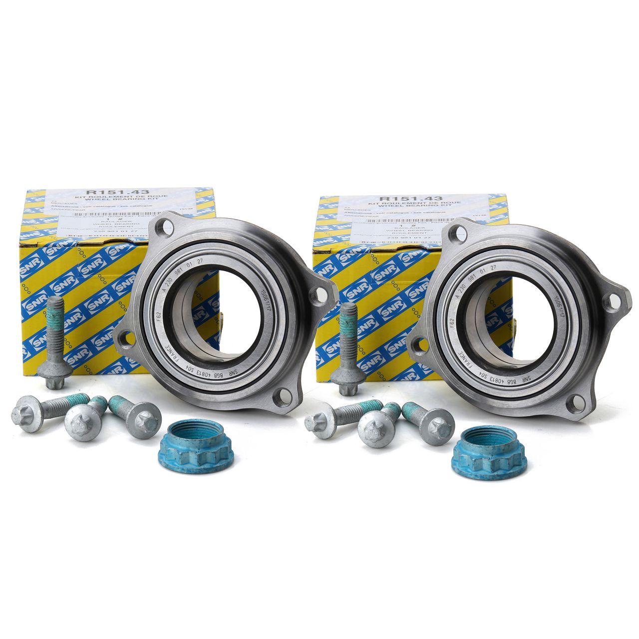 2x SNR Radnabe Radlager Rep.-Satz für Mercedes W204 C207 R230 R172 C197 hinten