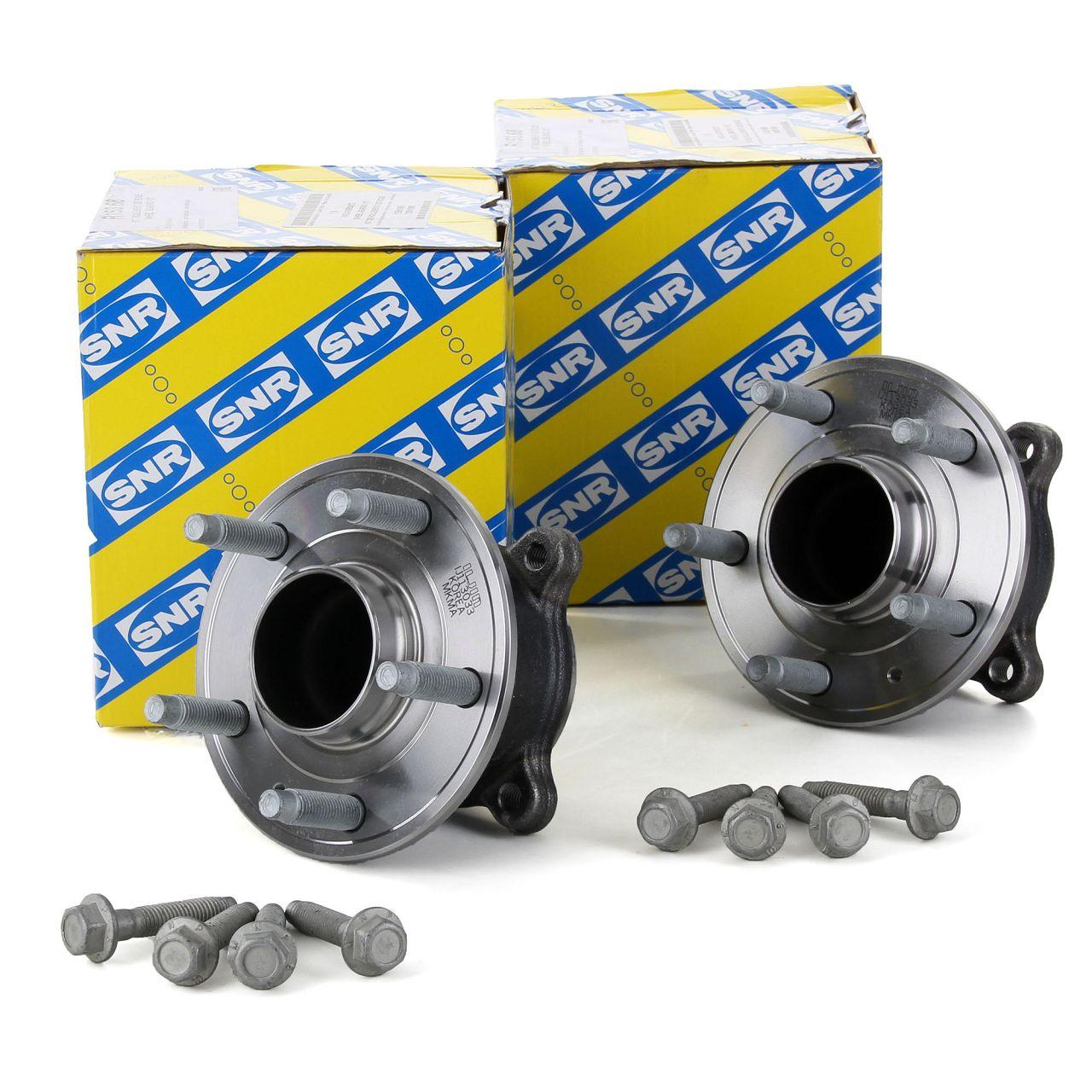 2x SNR R153.68 Radlagersatz OPEL Astra J bis 09.2105 + GTC bis 11.2013 hinten 13591998