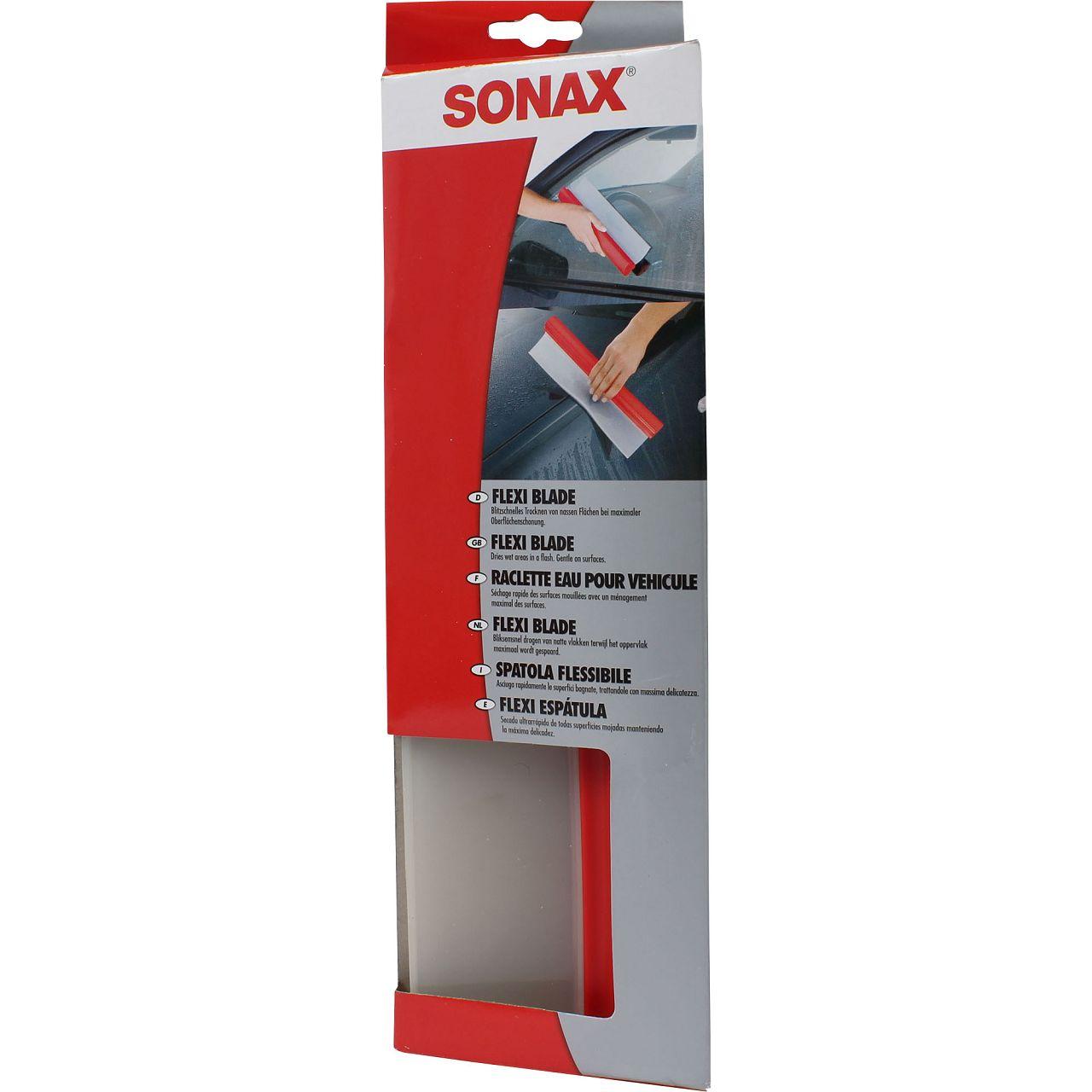 SONAX FlexiBlade Wasserabzieher aus Silikon Flächentrockner 1 Stück 417400