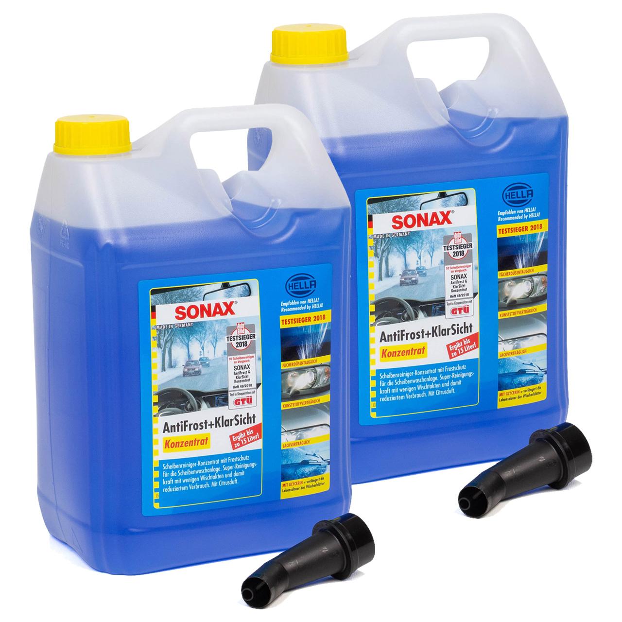 SONAX 332505 Scheiben Frostschutz ANTIFROST & KLARSICHT Konzentrat - 10 Liter