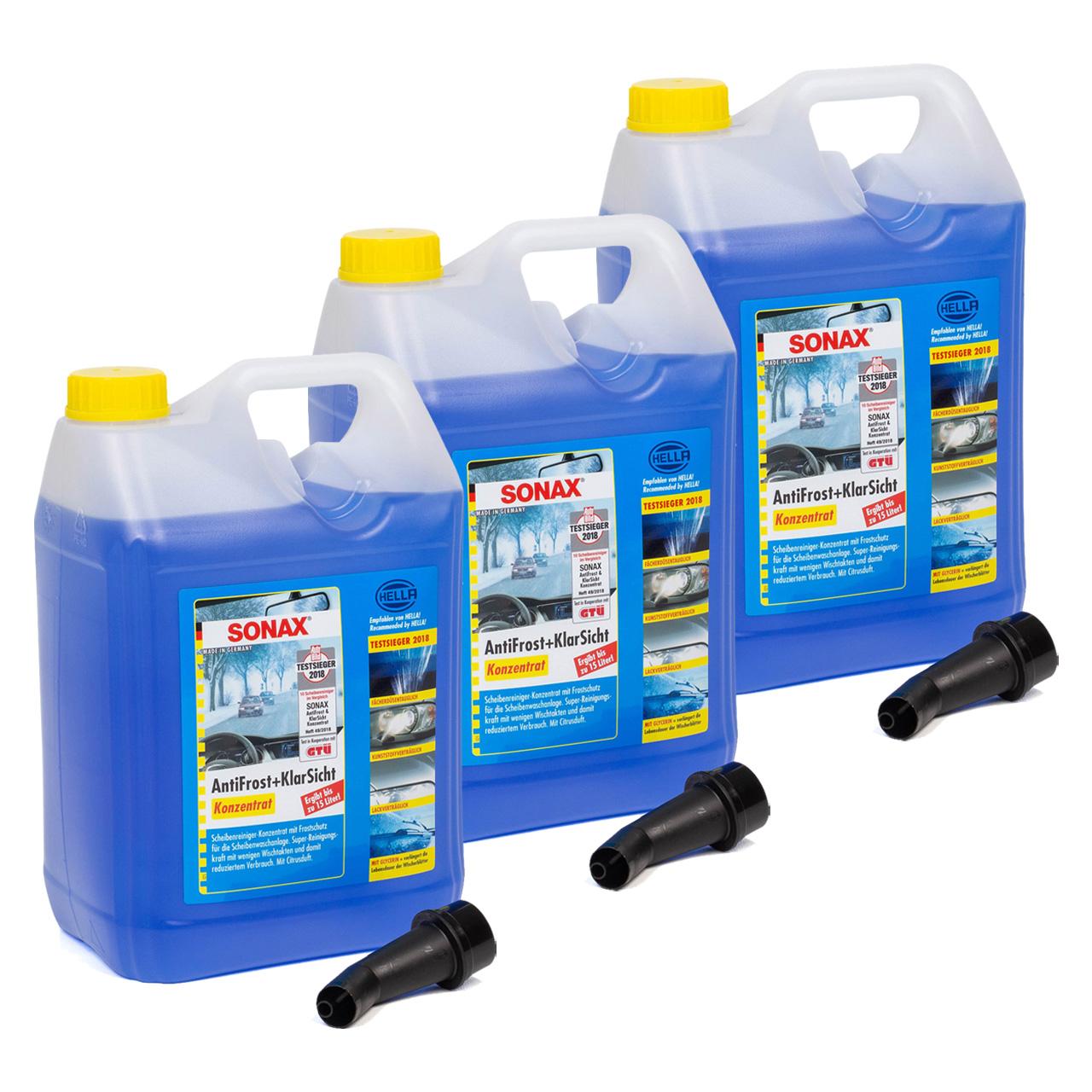 SONAX 332505 Scheiben Frostschutz ANTIFROST & KLARSICHT Konzentrat - 15 Liter