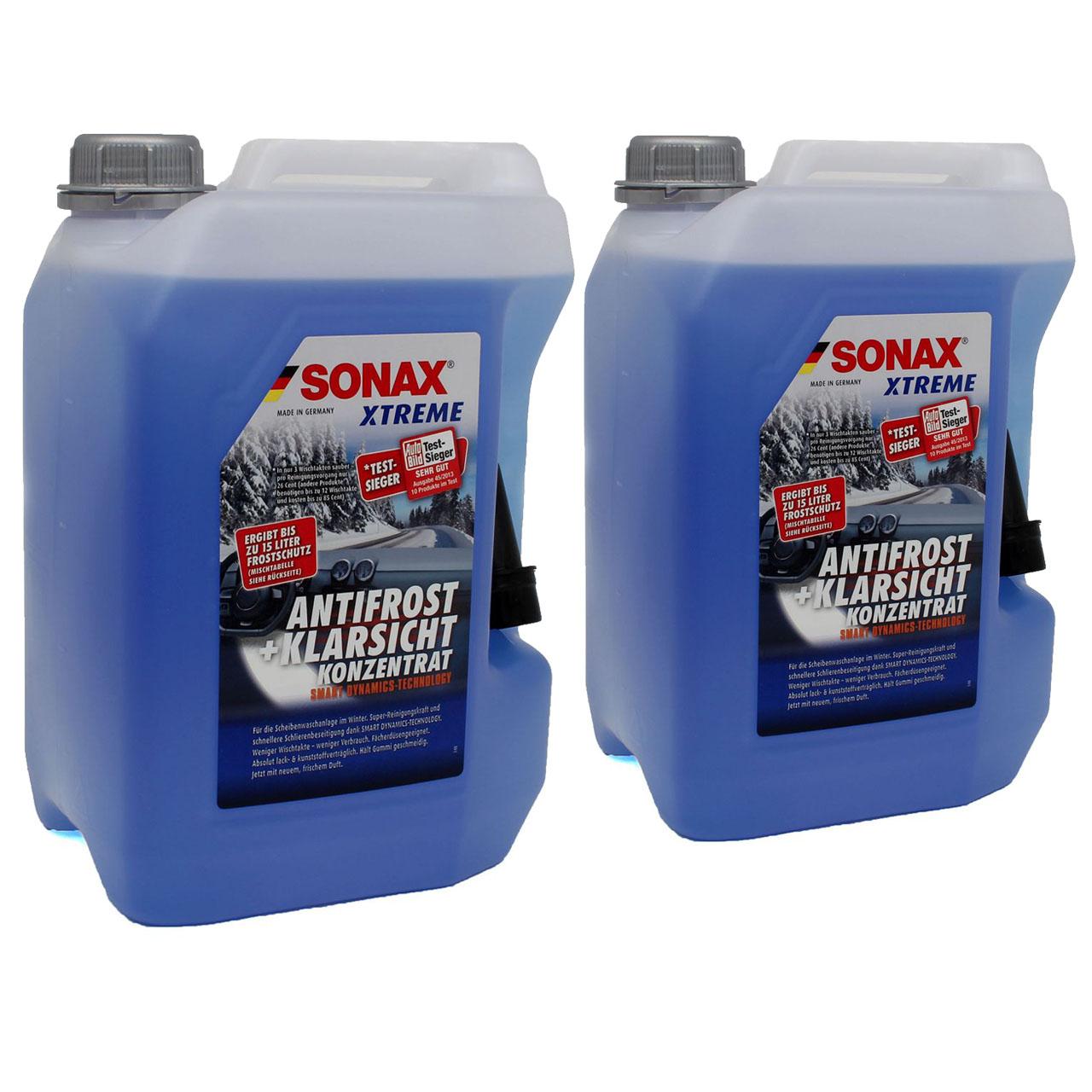 SONAX Xtreme Scheiben Frostschutz ANTIFROST & KLARSICHT Konzentrat - 10 Liter
