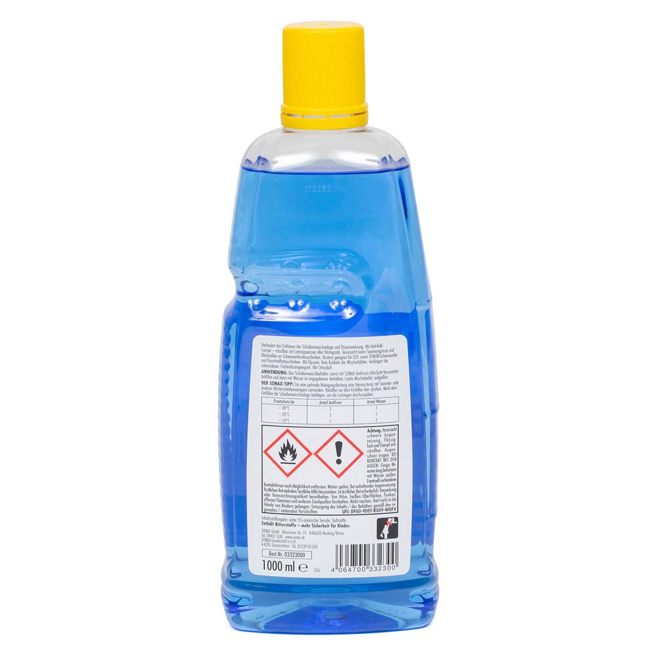 SONAX 332300 Scheiben Frostschutz ANTIFROST & KLARSICHT Konzentrat - 1L 1 Liter