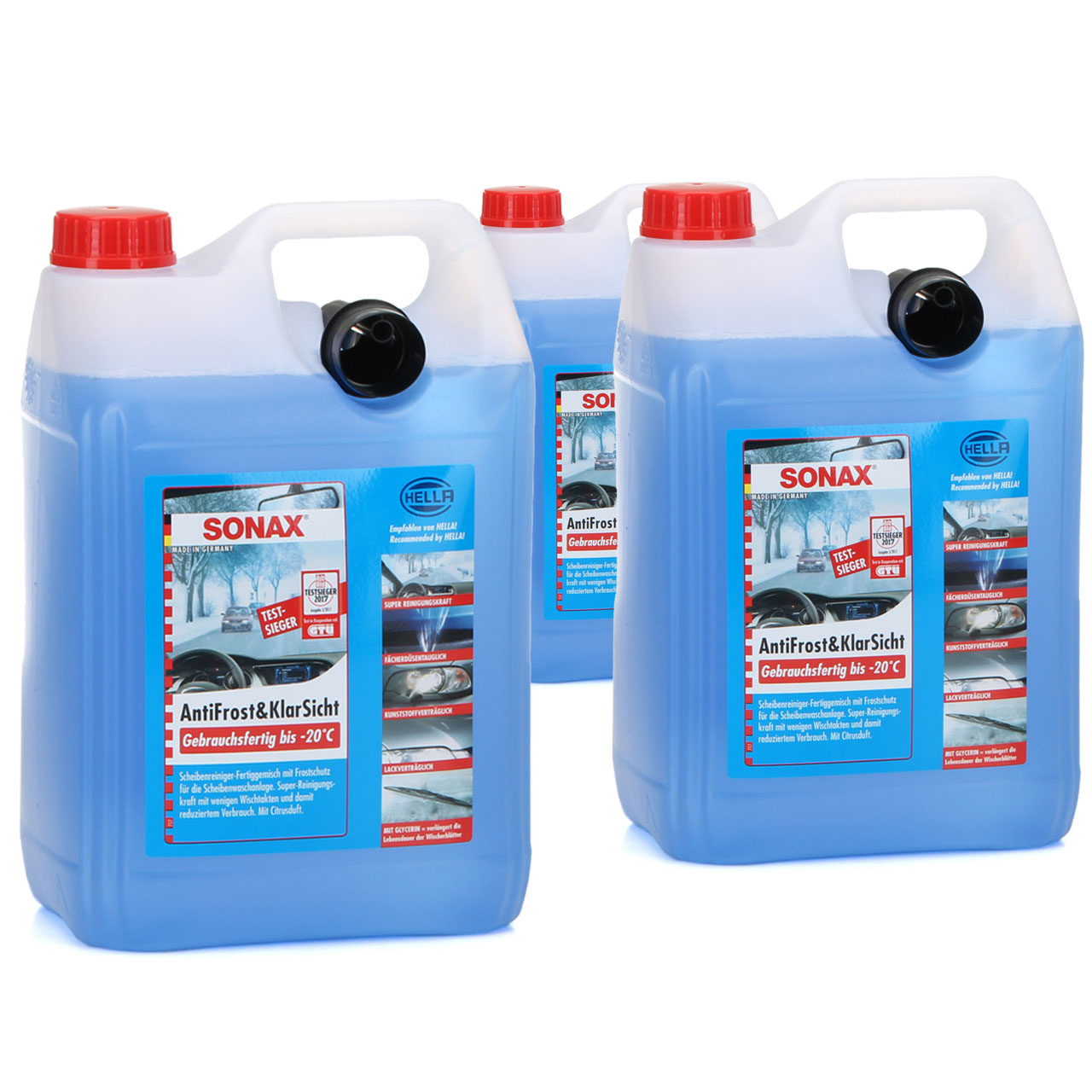 SONAX Frostschutz ANTIFROST & KLARSICHT gebrauchsfertig bis -20°C - 15L 15 Liter
