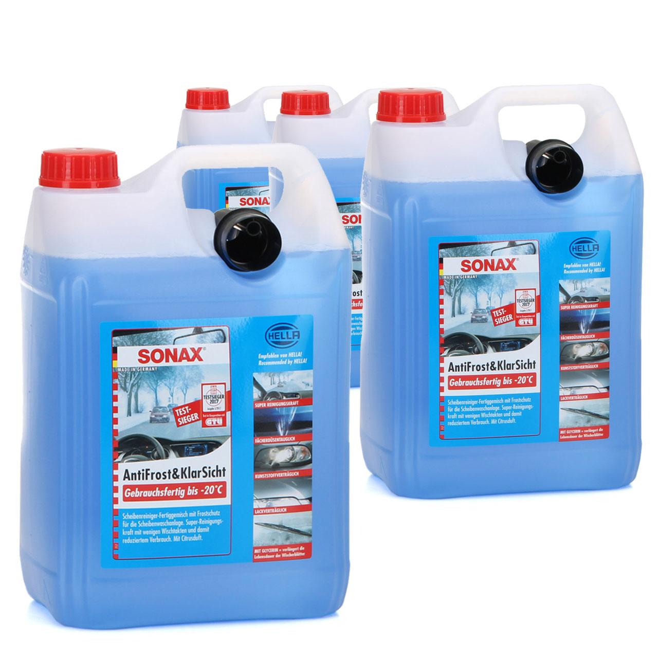 SONAX Frostschutz ANTIFROST & KLARSICHT gebrauchsfertig bis -20°C - 20L 20 Liter