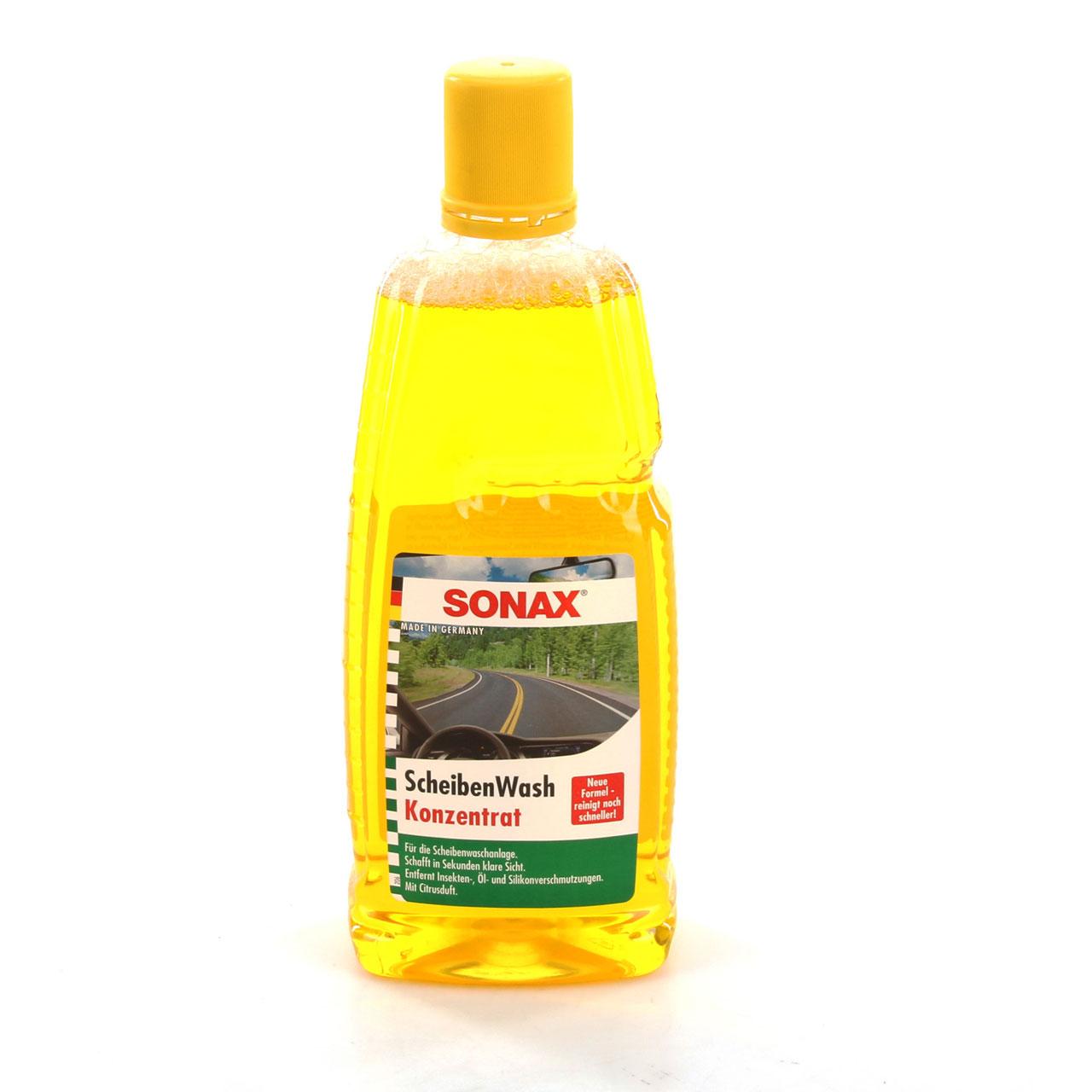 SONAX ScheibenWash Konzentrat Citrusduft 260300 Scheibenreiniger - 1L 1 Liter