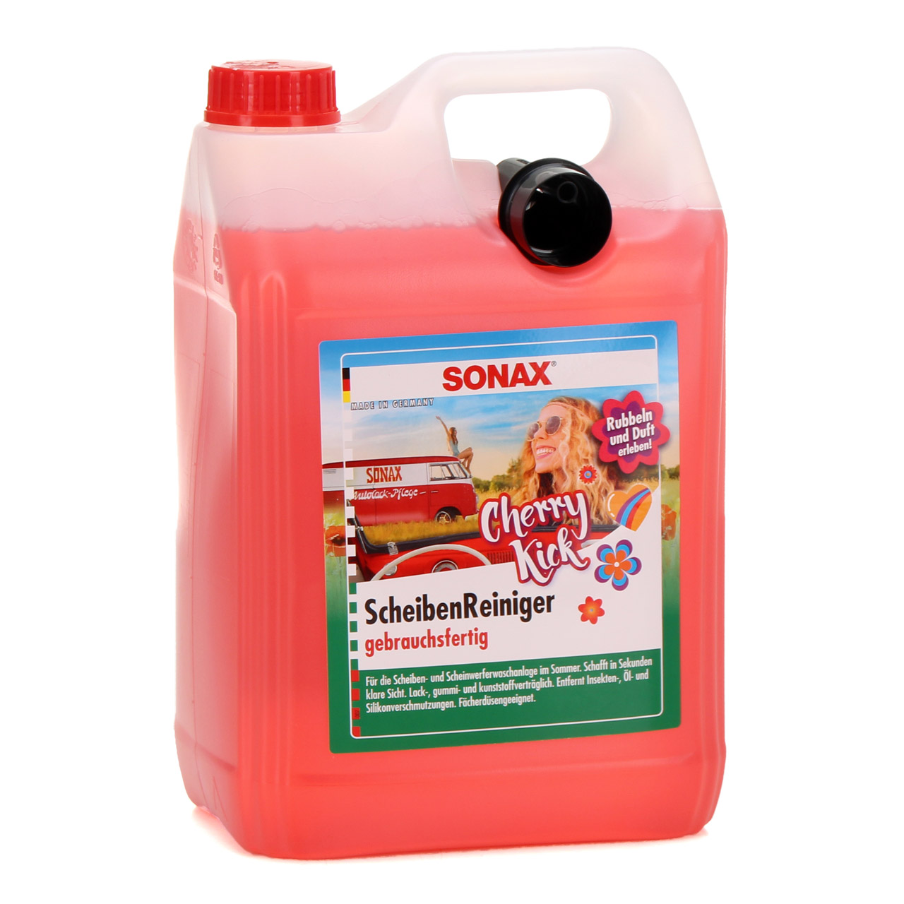 SONAX 392500 ScheibenReiniger gebrauchsfertig Cherry Kick 2x 5L 5 Liter