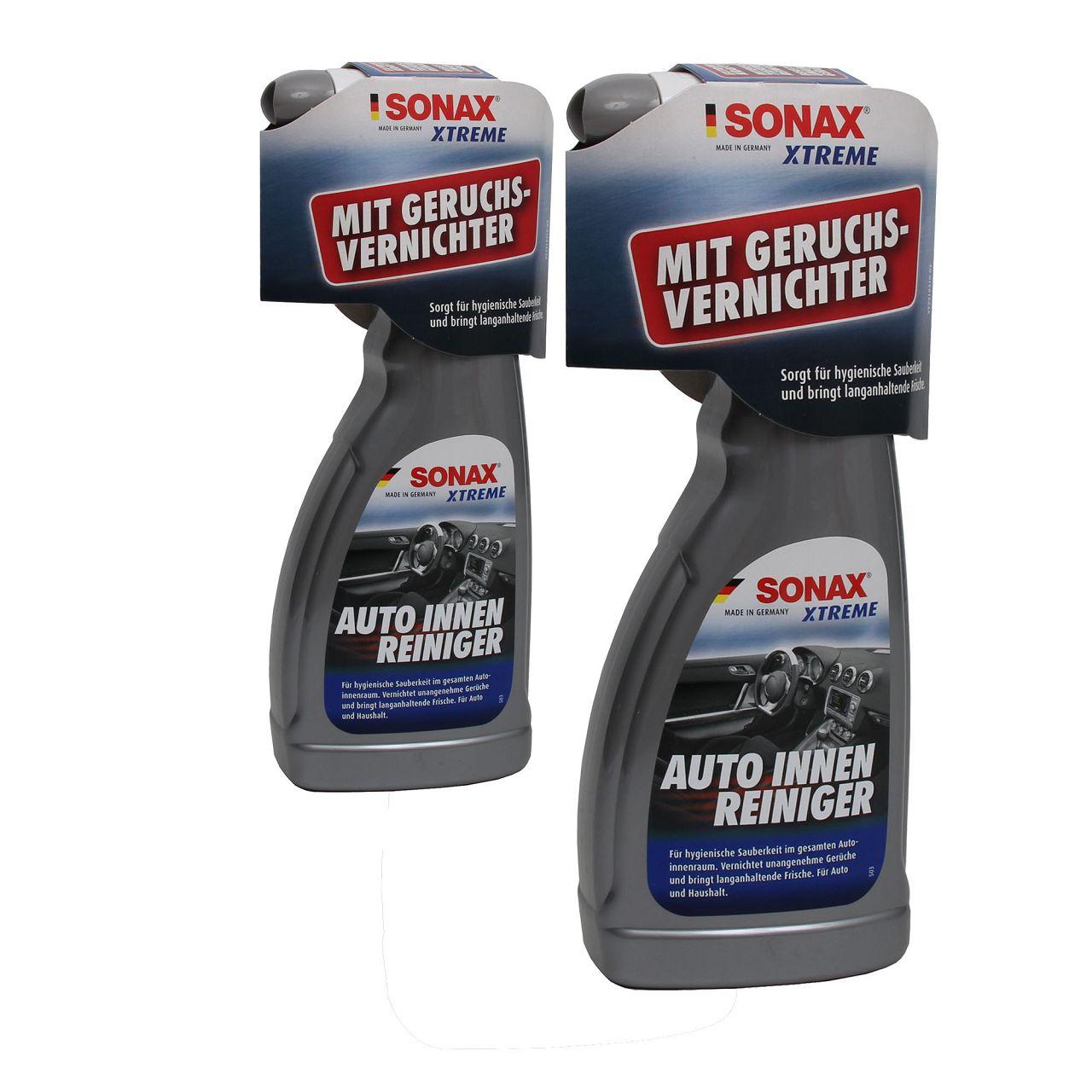 2x 500ml SONAX 02212410 XTreme Auto-Innen-Reiniger Teppich Textil-Reiniger