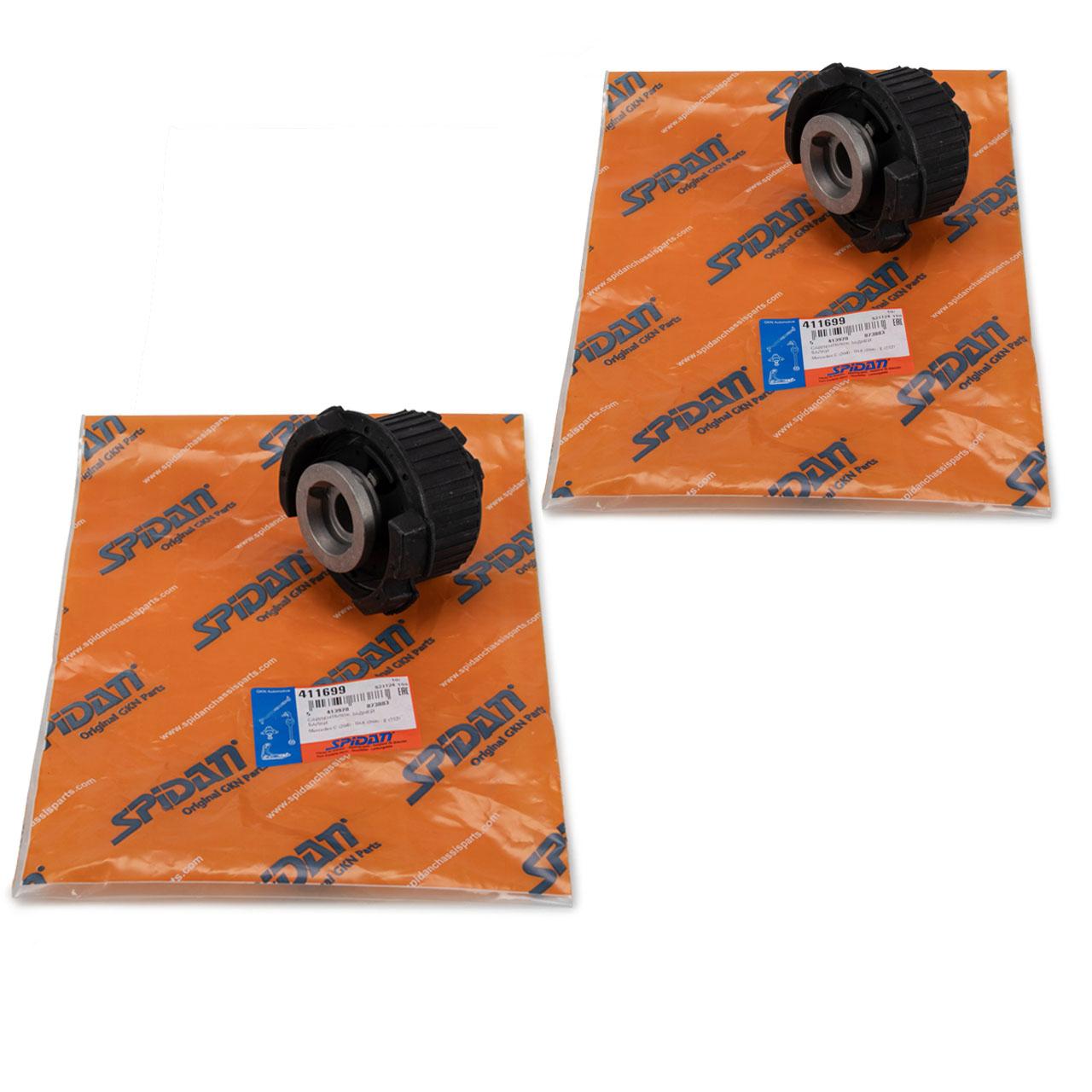 2x SPIDAN 411699 Achskörperlager für MERCEDES W204 C218 / X218 W212 hinten