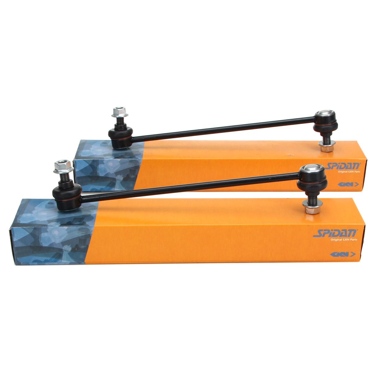 2x SPIDAN Koppelstange Stabilisatorstange für OPEL ASTRA H ZAFIRA B vorne 350614