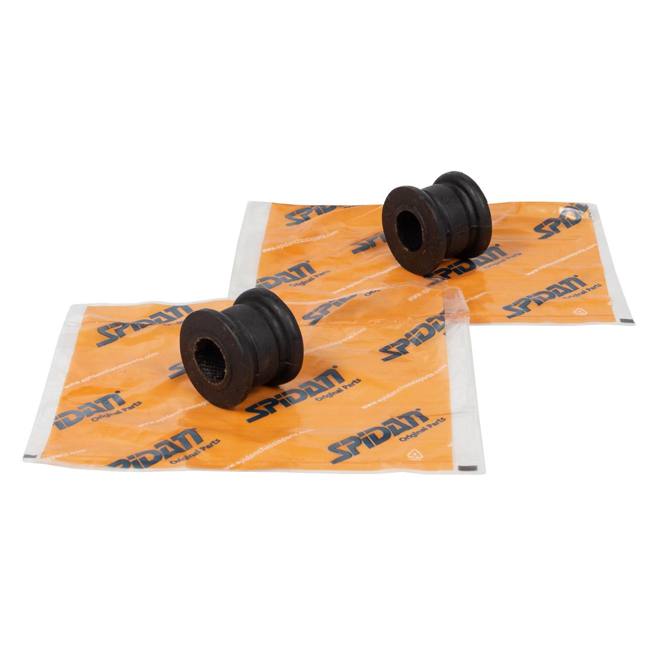 2x SPIDAN 411440 Stabilisatorlager MERCEDES 190 W201 E 1.8-2.6 D 2.0-2.5 vorne 2013234885