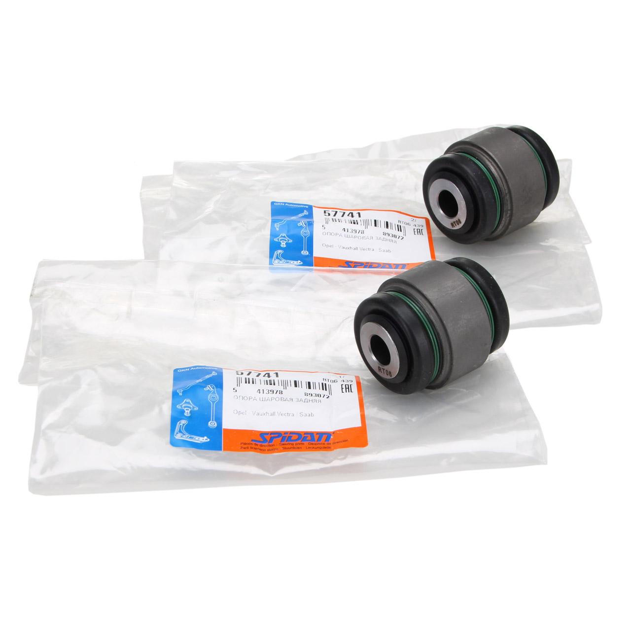 2x SPIDAN Lagerbuchse Radlagergehäuse für VECTRA B SAAB 9-5 YS3E hinten 423121