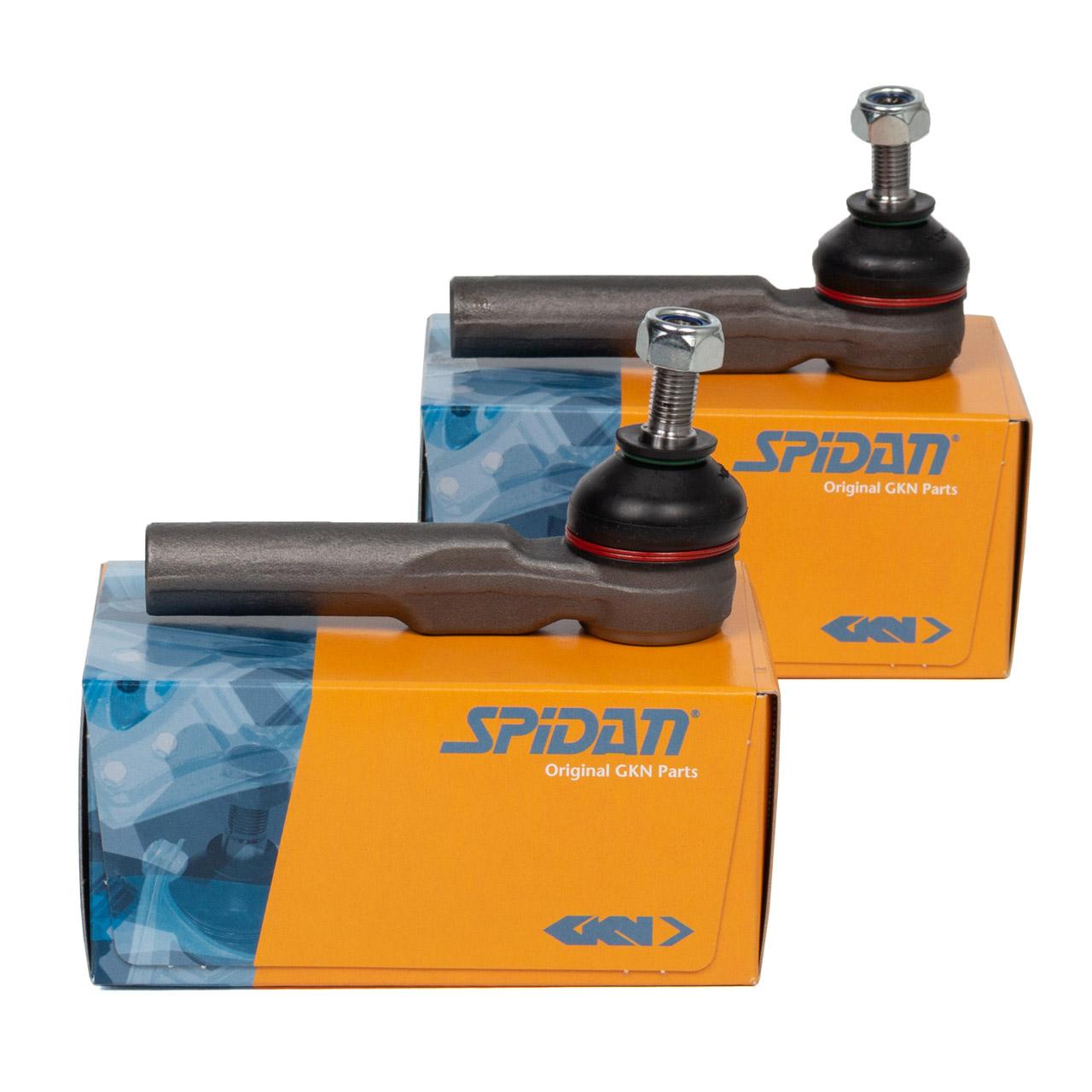 2x SPIDAN Spurstangenkopf ALFA ROMEO 145 146 155 GTV Spider FIAT Doblo vorne