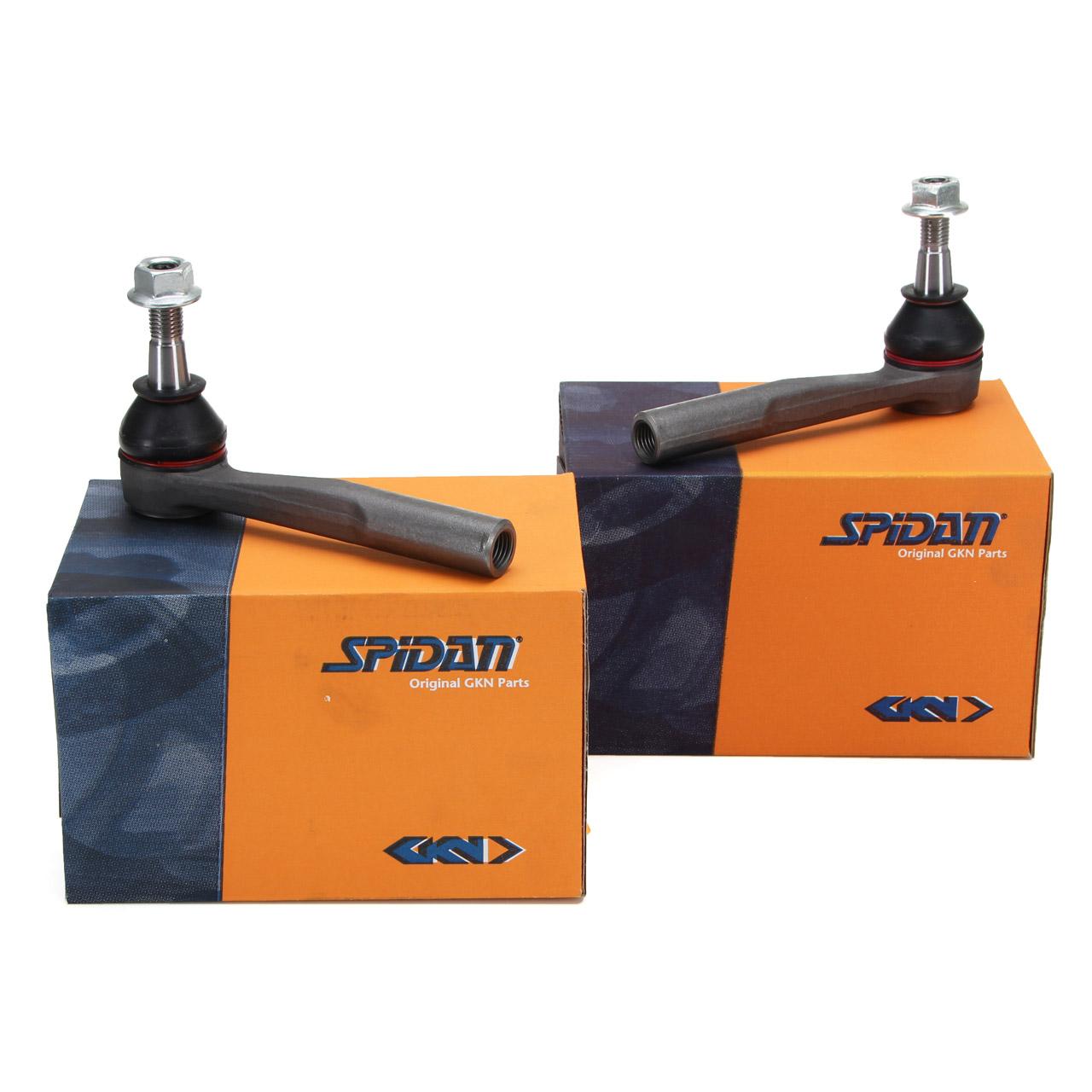 2x SPIDAN Spurstangenkopf FIAT Croma OPEL Signum Vectra C SAAB 9-3 9-5 vorne