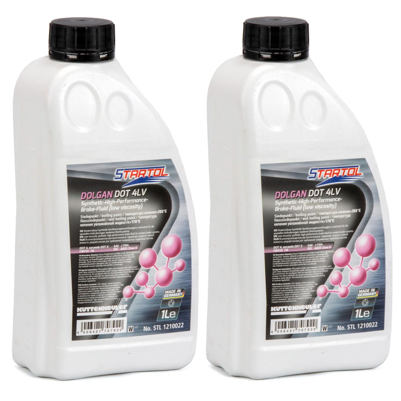 STARTOL Dolgan DOT 4 LV Hochleistungs-Bremsflüssigkeit synthetisch - 2L 2 Liter
