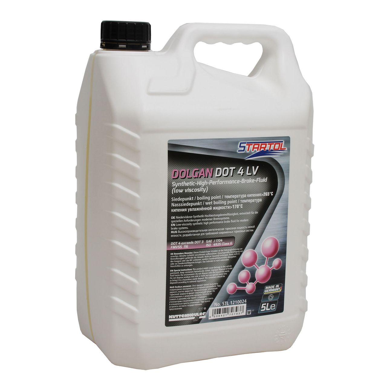 STARTOL Dolgan DOT 4 LV Hochleistungs-Bremsflüssigkeit synthetisch - 5L 5 Liter