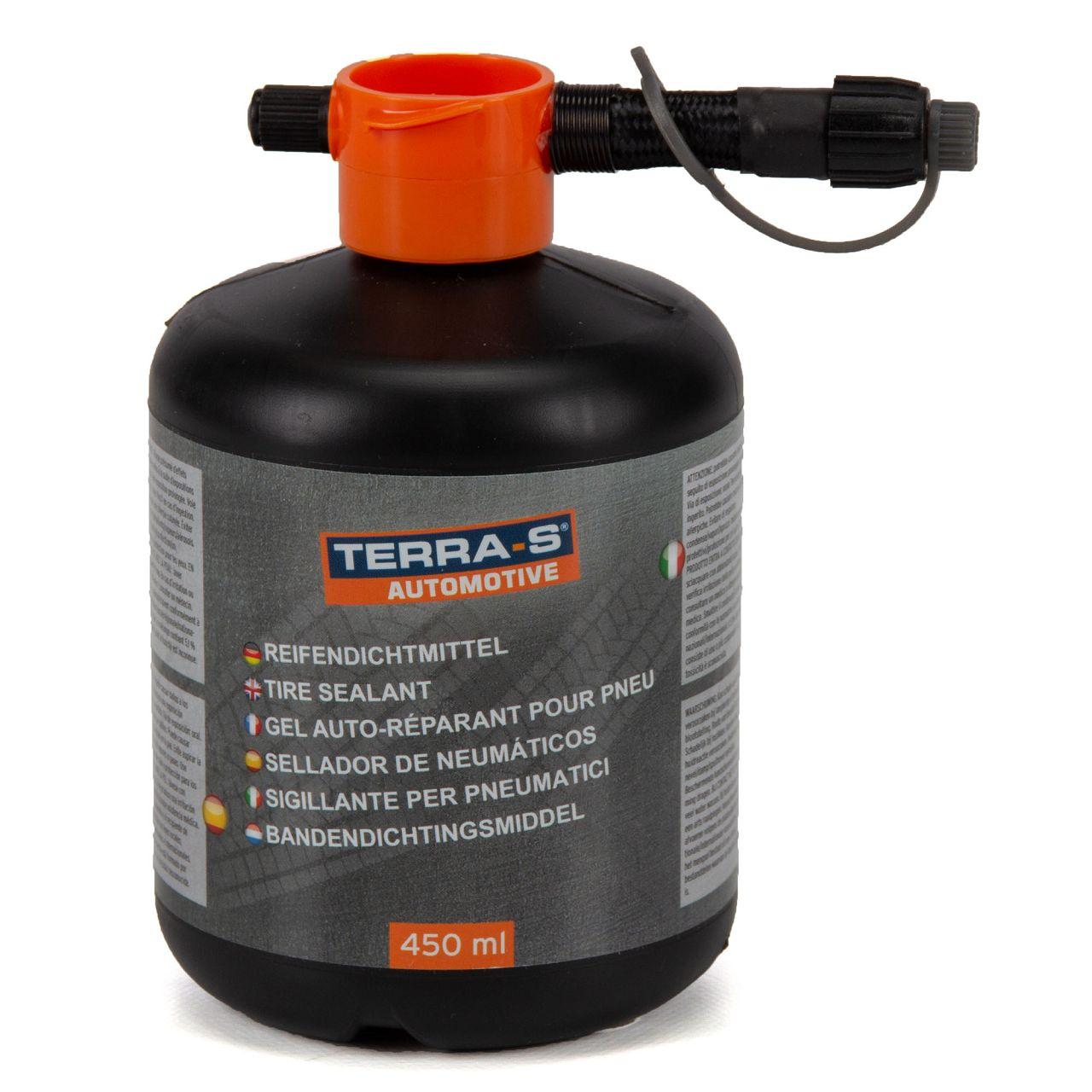 TERRA S Tirefit Ersatzflasche Nachfüllflasche 450 ml Dichtmittel Pannenset