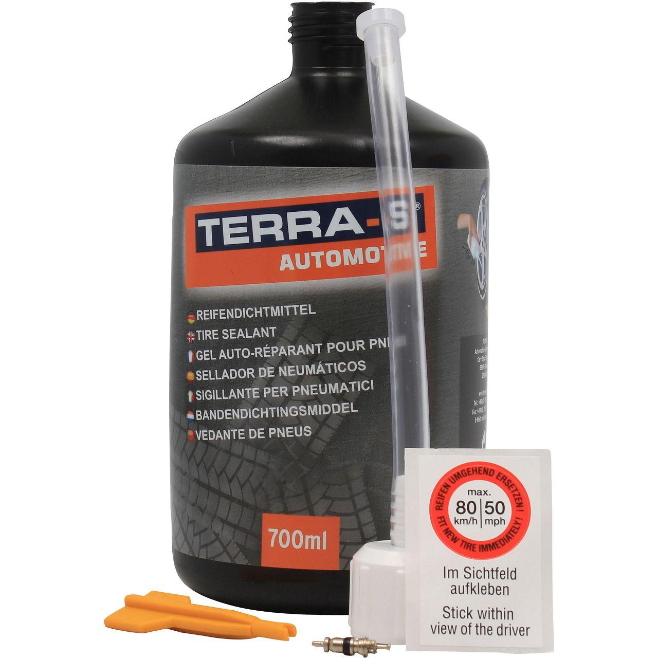 TERRA-S Reifendichtmittel Pannenset Nachfüllflasche Ersatzflasche 700ml