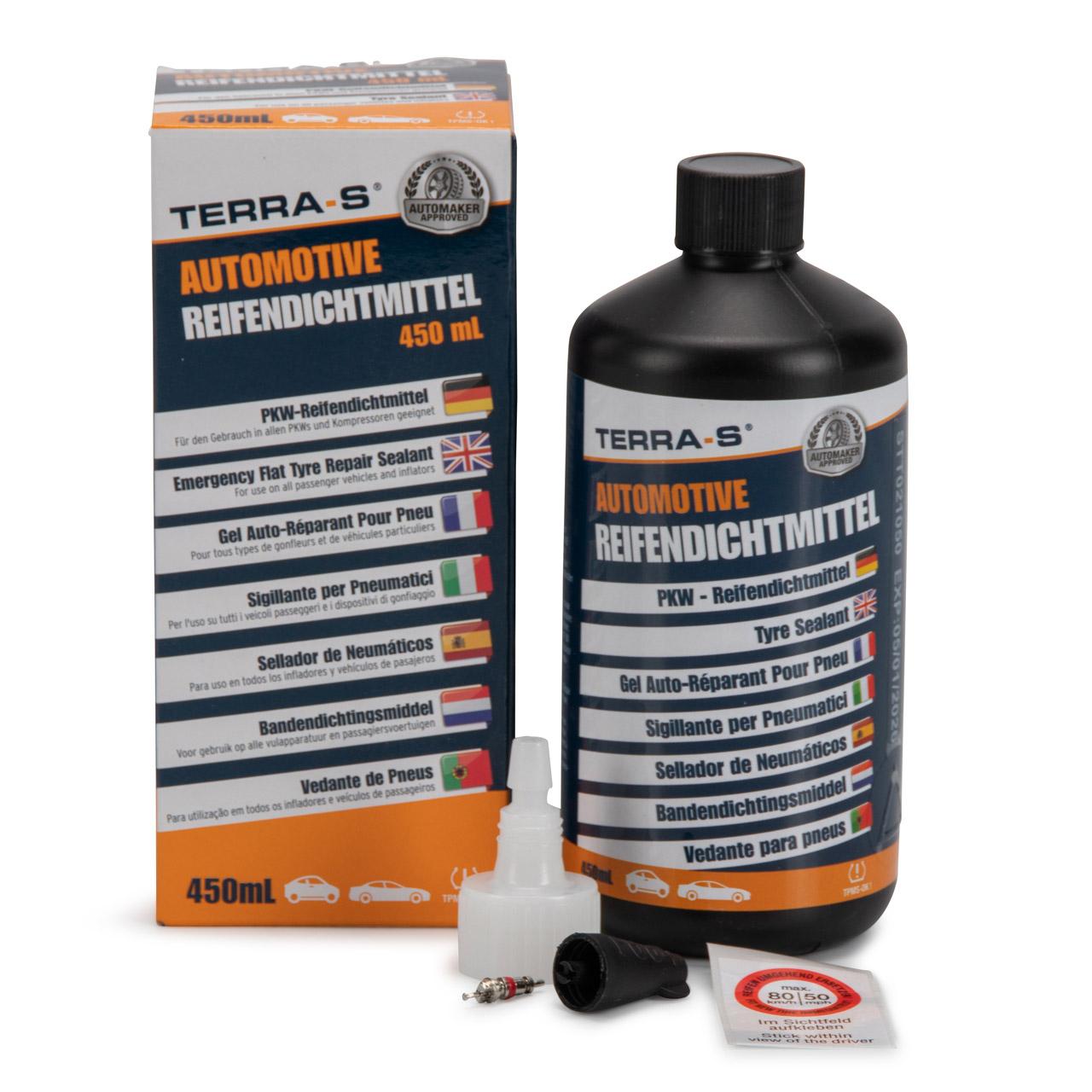 TERRA S T16000 MOBIL KIT Ersatzflasche Nachfüllflasche 450 ml Dichtmittel
