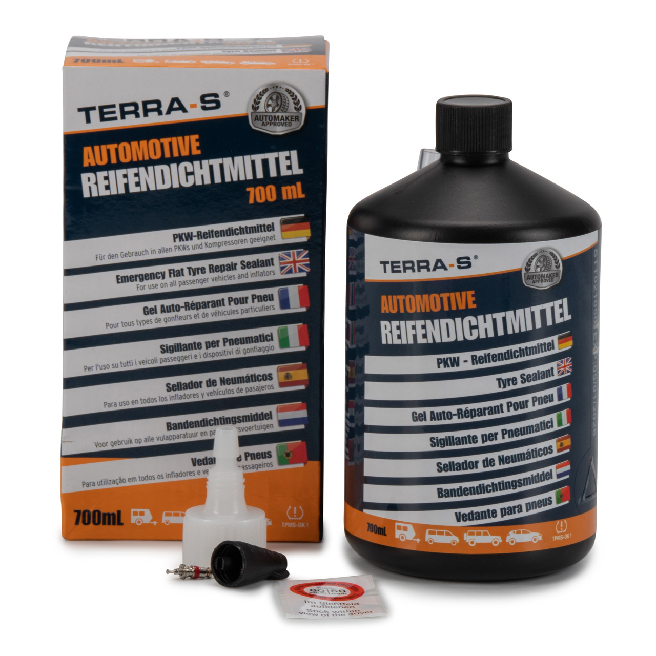 TERRA S T16001 Reifendichtmittel Nachfüllflasche Ersatzflasche Pannenset 700ml