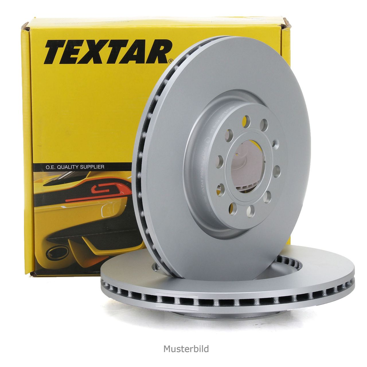 TEXTAR Bremsscheiben Satz für Mercedes W204 C204 S204 ohne Sportpaket vorne