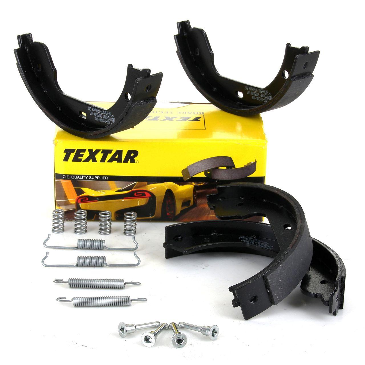 TEXTAR 91058700 Bremsbacken + Federn Satz BMW E46 M3 E60 E61 E65-67 F01-04 X3 X5 X6 hinten