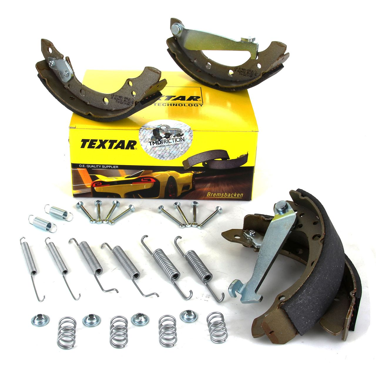 TEXTAR 91044700 Bremsbacken + Federn Satz VW Lupo Polo 6N SEAT Arosa Ibiza 2 ohne ABS