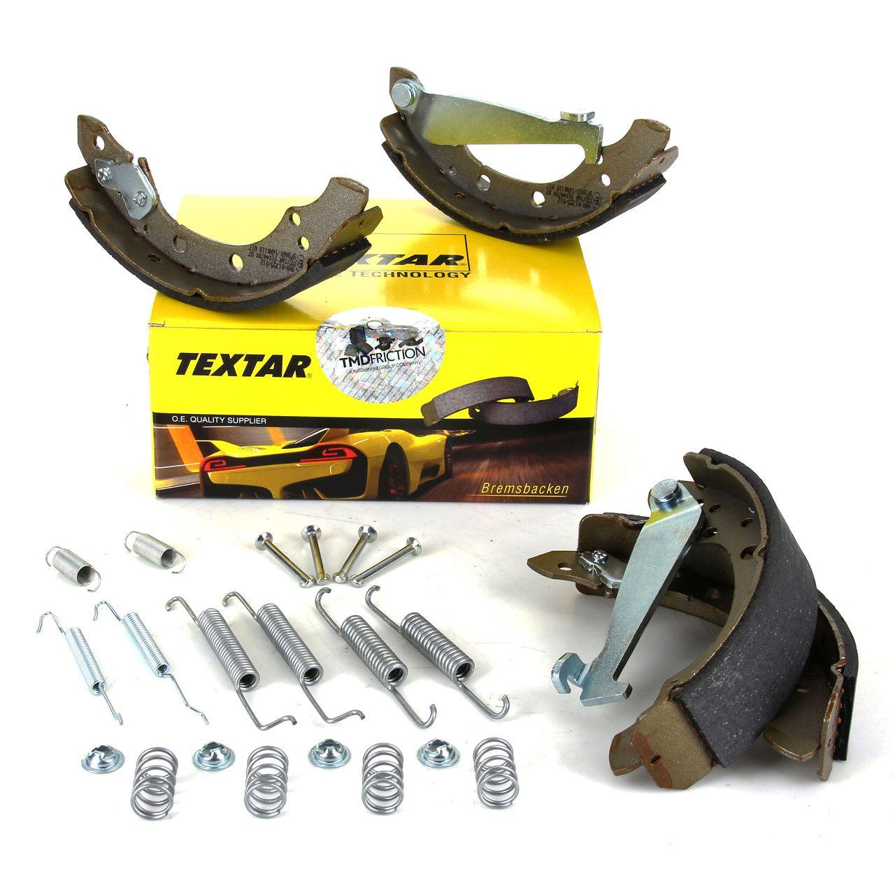 TEXTAR 91044700 Bremsbacken + Federn Satz VW Golf 3 Passat B3 B4 Polo 6N Vento mit ABS