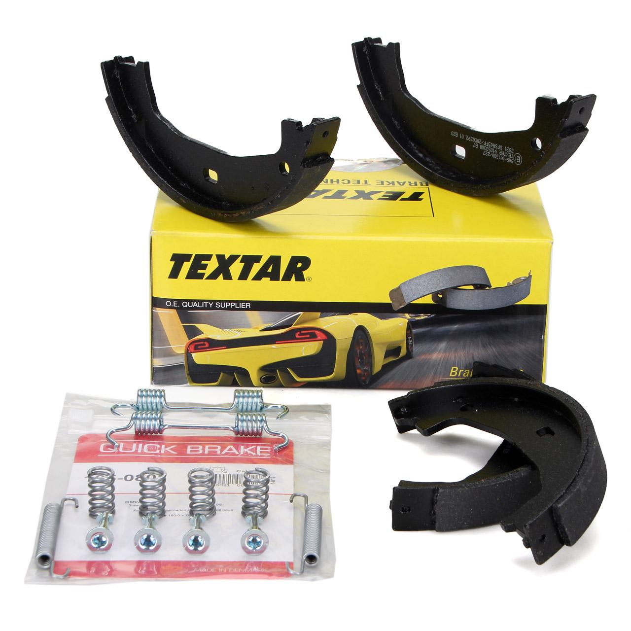 TEXTAR 91053300 Bremsbacken + Federn Satz BMW E81-88 F20 F21 E46 E90-93 F30 F31 F32 F36