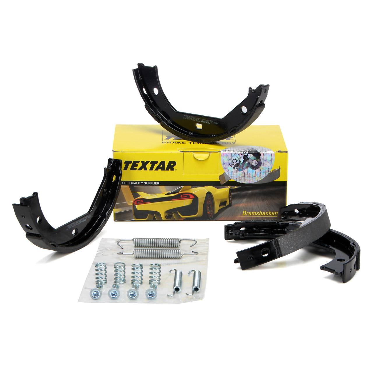 TEXTAR 91049300 Bremsbacken + Federn Satz BMW E81-88 E46 E90-93 F30-34 F32-36 E39 X1 E84