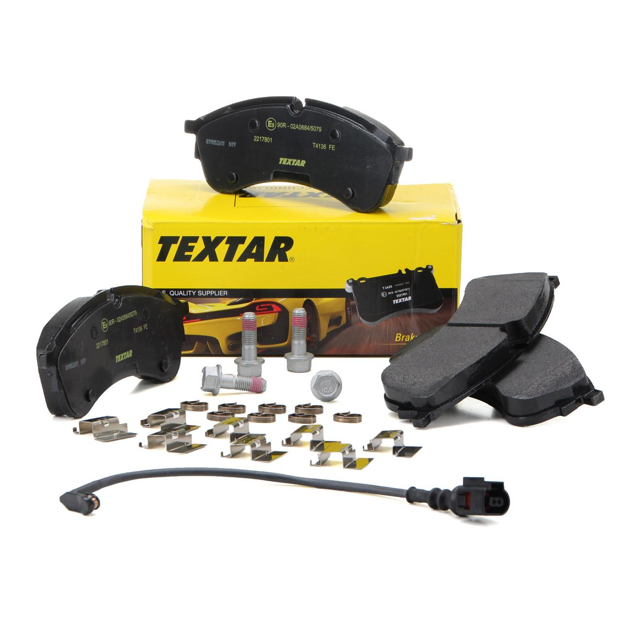TEXTAR 2217801 Bremsbeläge + Wako MAN TGE VW Crafter (SY SX SZ) 1LB 1LC vorne