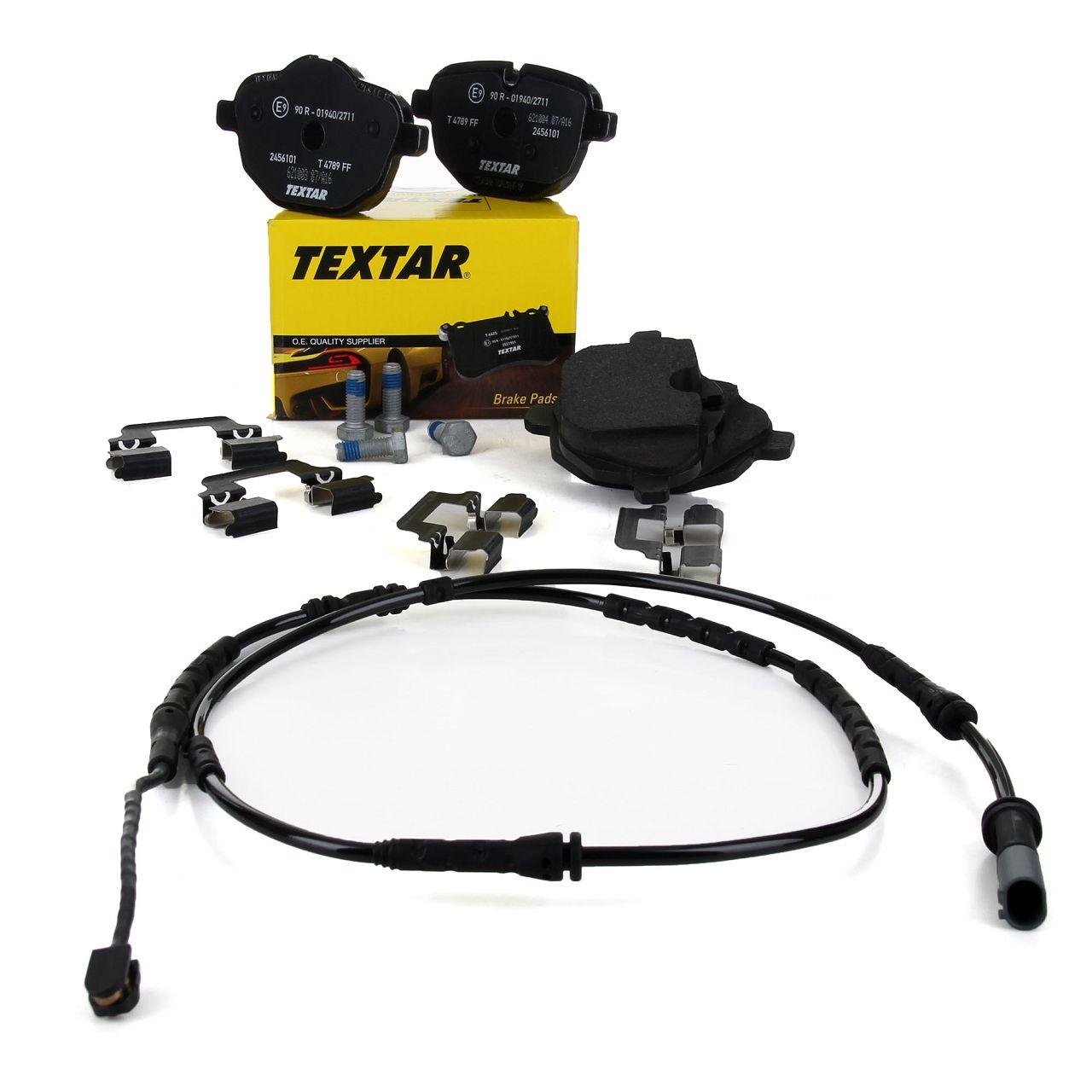 TEXTAR 2456101 Bremsbeläge + Wako BMW X3 F25 X4 F26 20-35i M40i 18-35d hinten