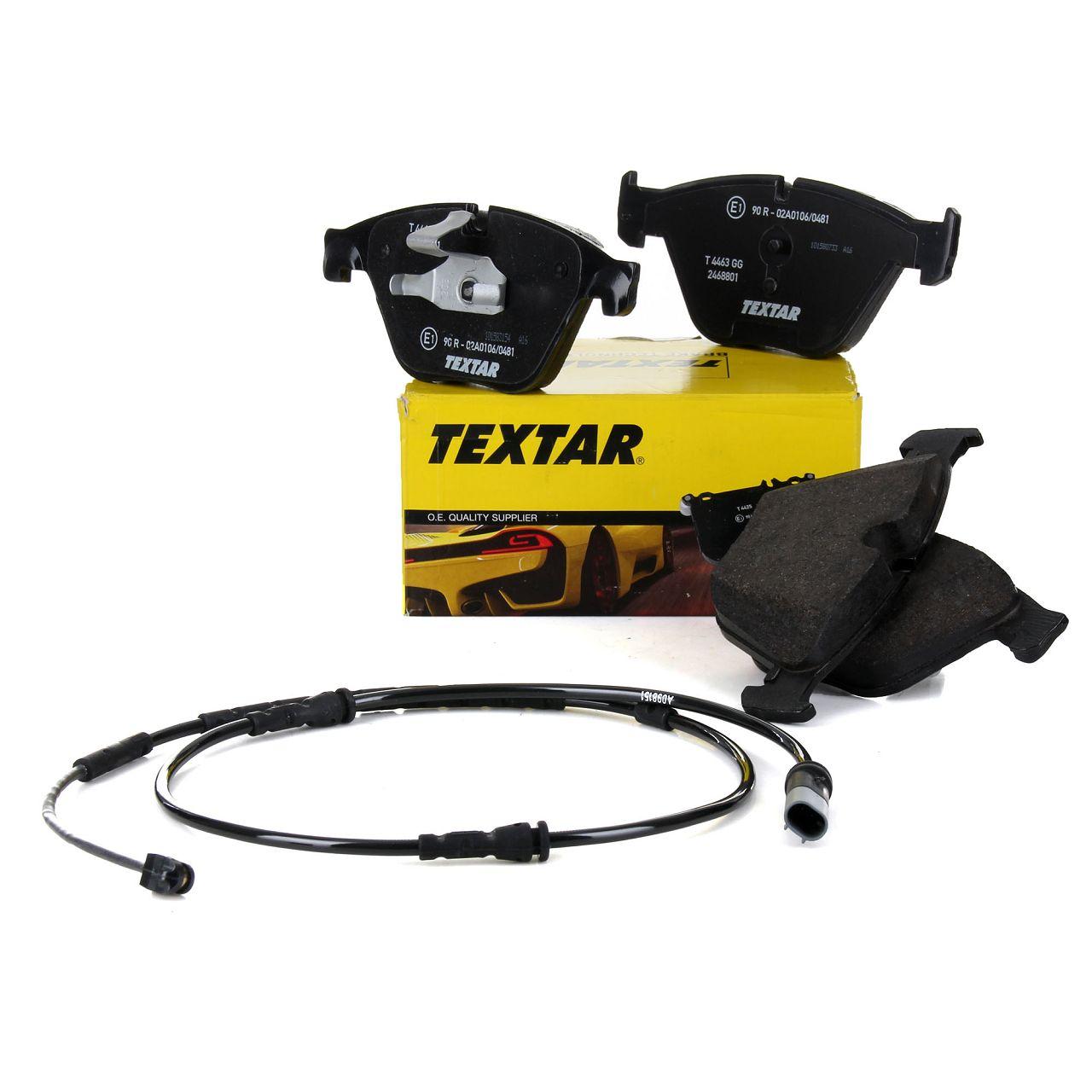 TEXTAR 2468801 Bremsbeläge + Wako BMW 5er F10 F11 528-535i 525d 530d 6er F06 640i vorne