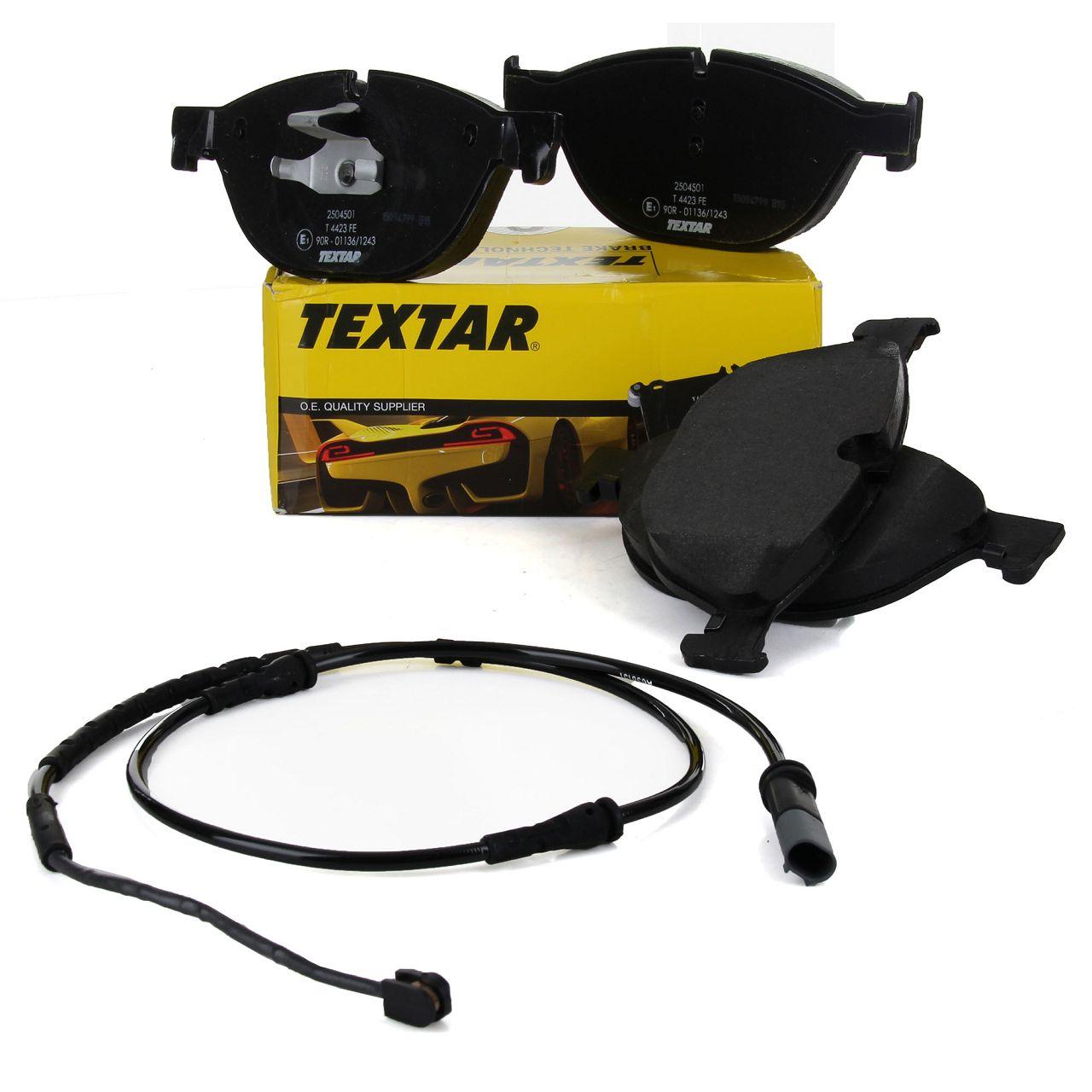 TEXTAR Bremsbeläge + Wako BMW 5er F10 F11 6er F12 F13 F06 F01-F04 vorne