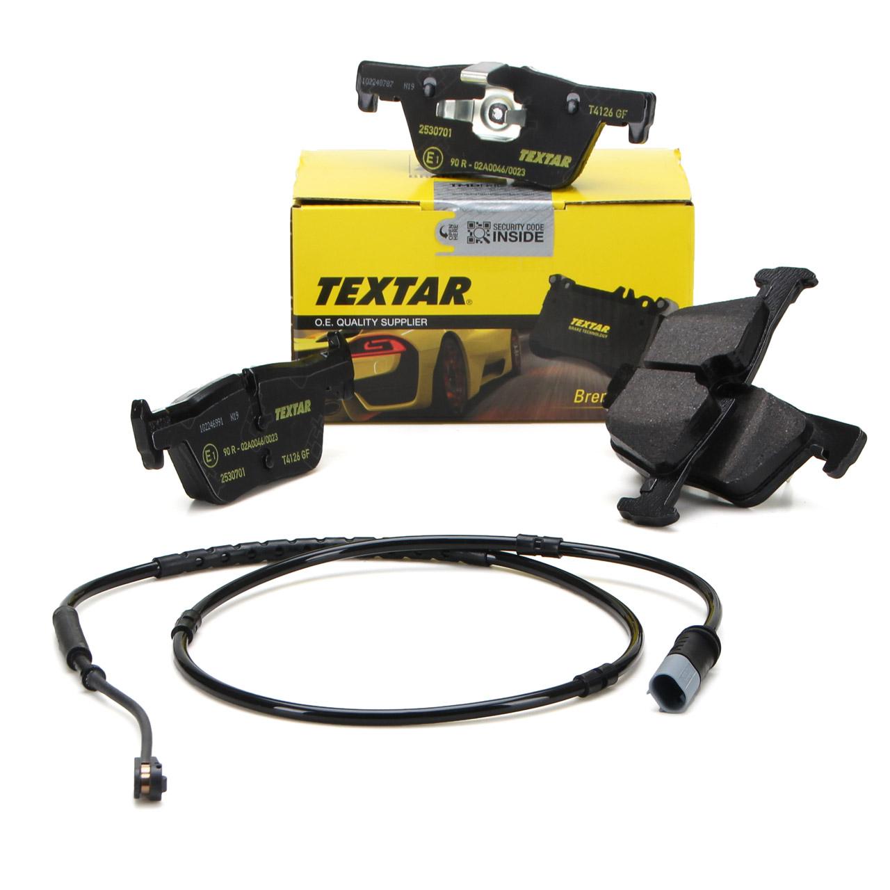 TEXTAR 2530701 Bremsbeläge + Wako BMW 1er F20 F21 2er F22 F23 3er F30-34 4er F32-36 hinten
