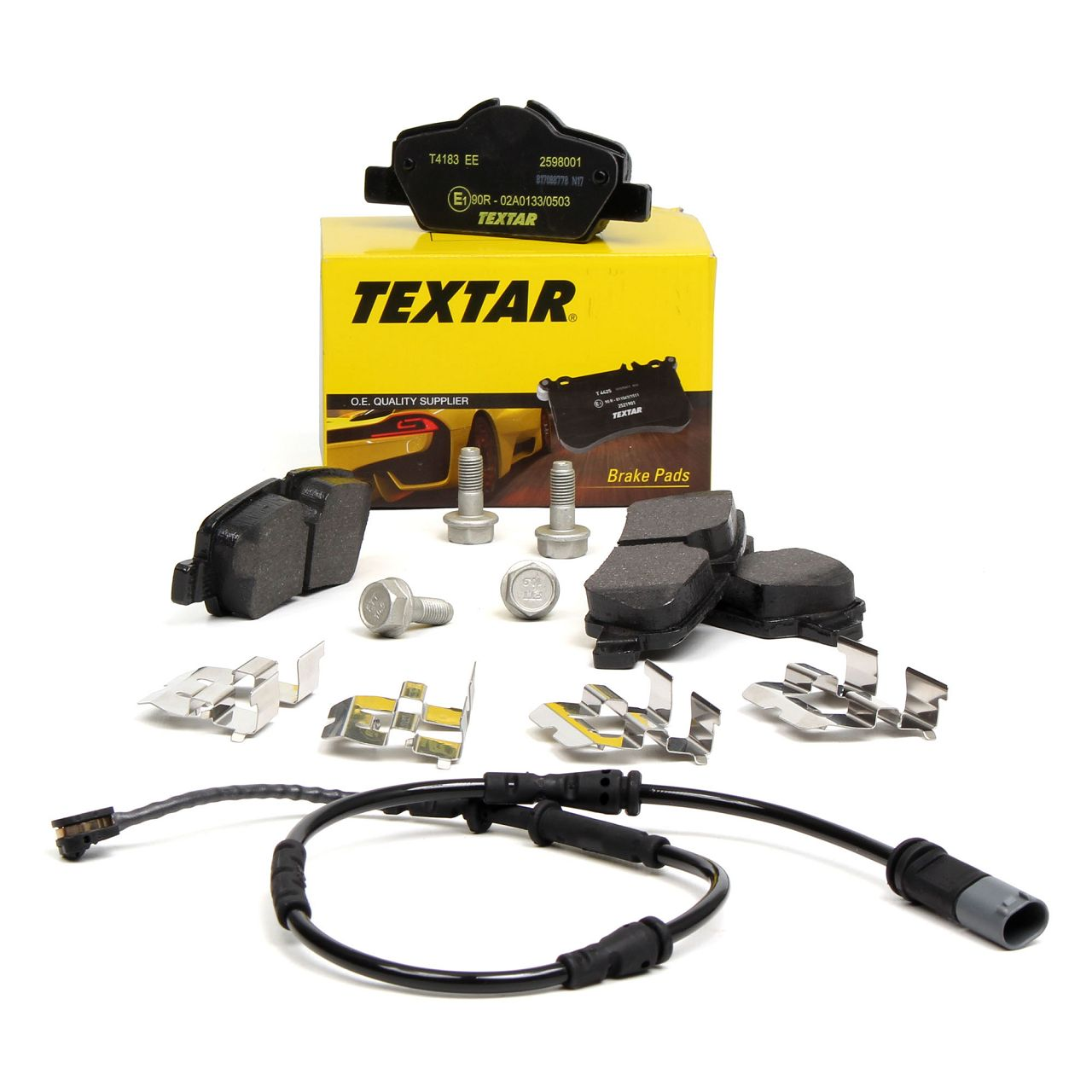 TEXTAR Bremsbeläge Bremsklötze + Warnkontakt für MINI F55 F56 CABRIO F57 hinten
