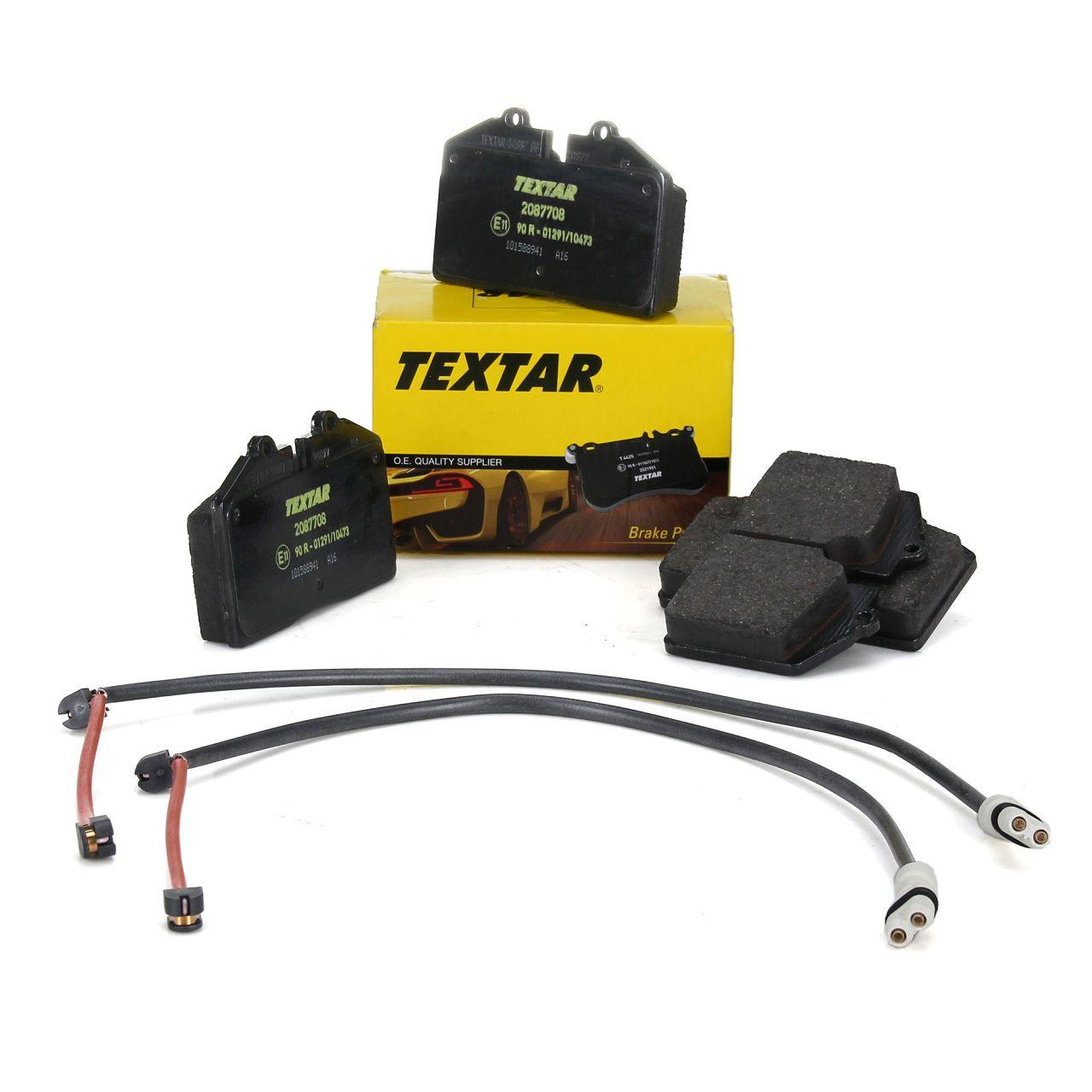 TEXTAR 2087708 Bremsbeläge + Wako PORSCHE 964 3.6 Carrera + 968 3.0 / Turbo S vorne
