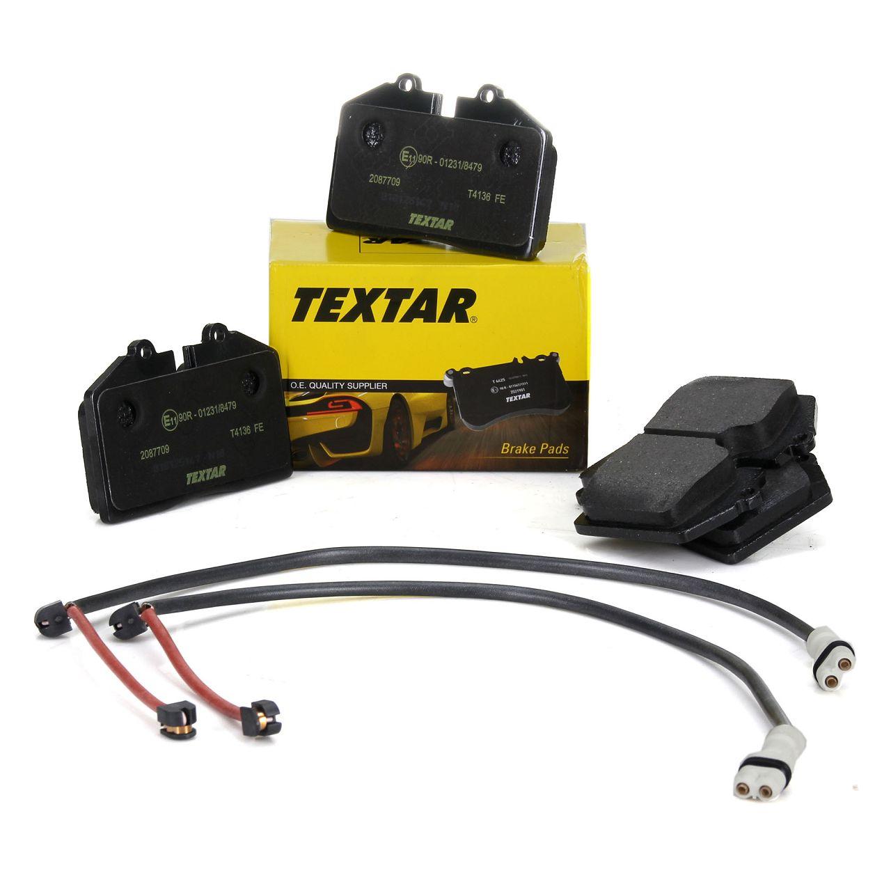 TEXTAR 2087709 Bremsbeläge + Wako PORSCHE 968 3.0 / Turbo S ohne Sportfahrwerk hinten
