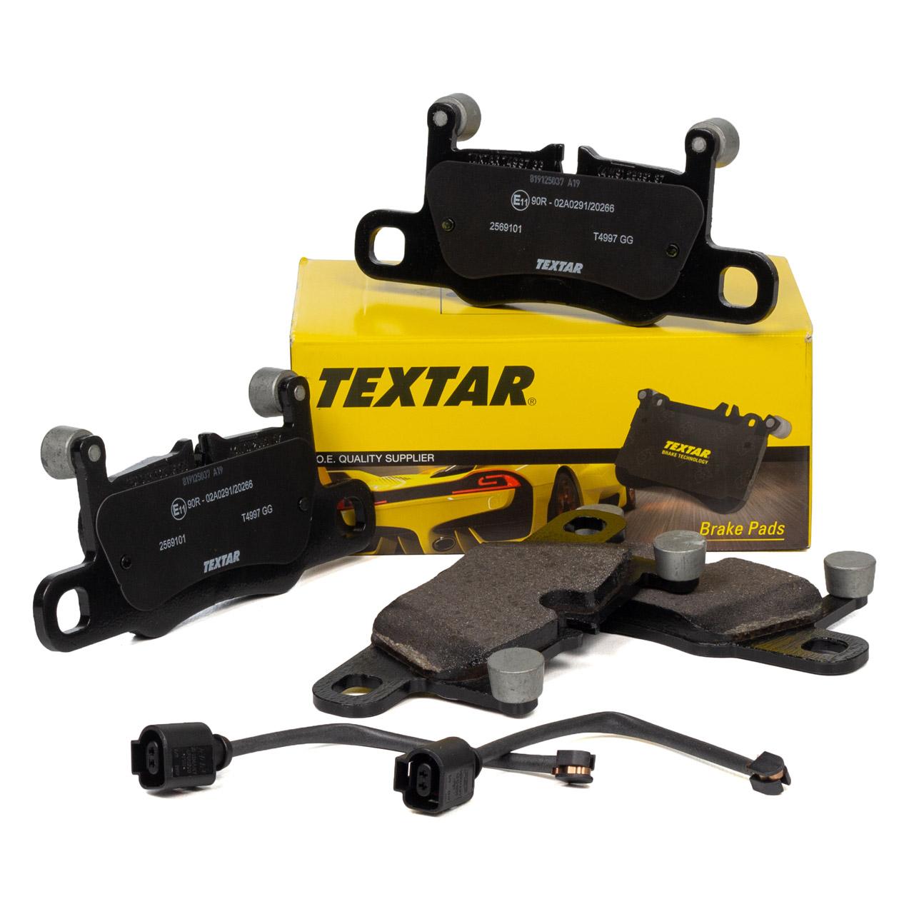 TEXTAR 2569101 Bremsbeläge + Wako PORSCHE 991 3.0/3.4/3.8 Carrera / S / GTS hinten