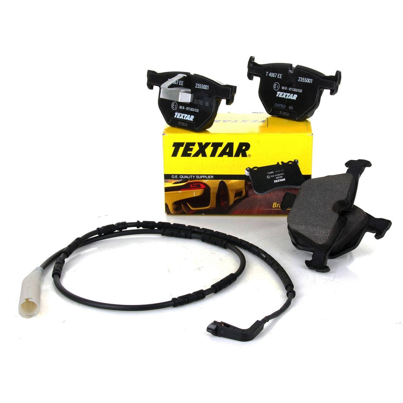 TEXTAR Bremsbeläge + Wako für BMW 3er E90 E91 E92 E93 330i 335i 325-335d hinten
