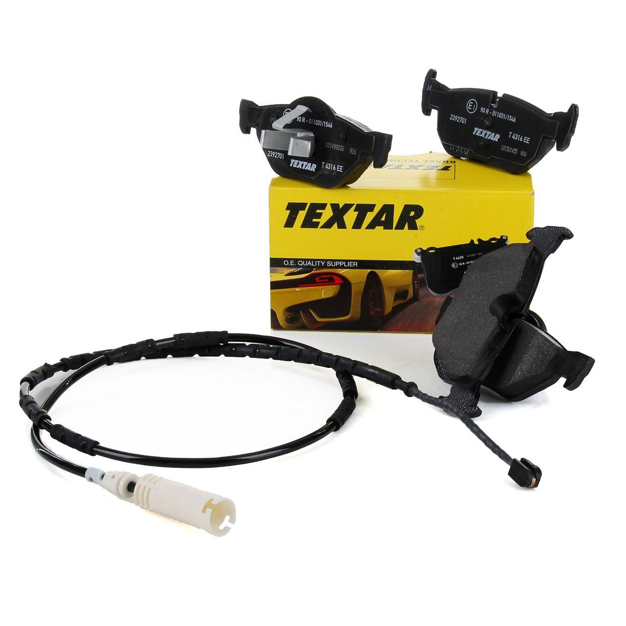 TEXTAR Bremsbeläge + Wako für BMW 1er E81 E87 E88 E82 3er E90 E91 E92 E93 hinten